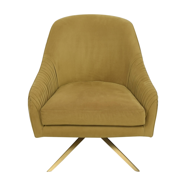 West Elm West Elm Roar & Rabbit Pleated Swivel Chair nj