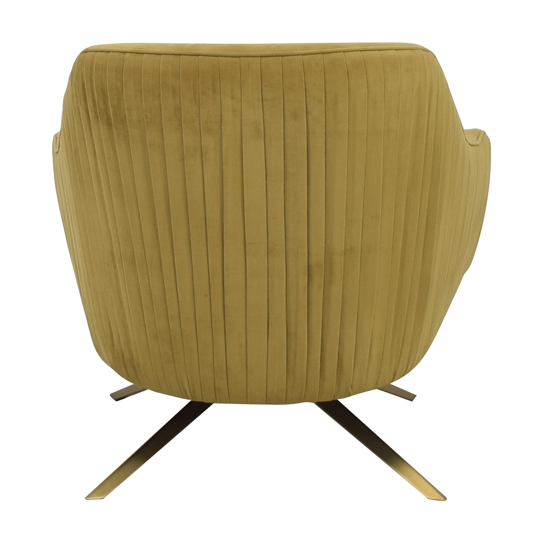 West Elm West Elm Roar & Rabbit Pleated Swivel Chair used
