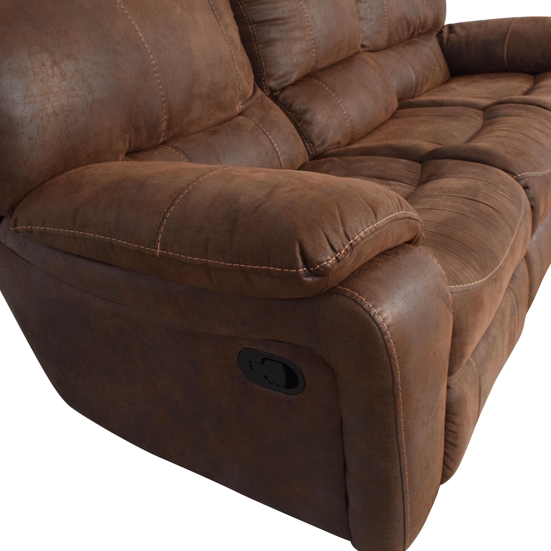 Three Seat Reclining Sofa discount