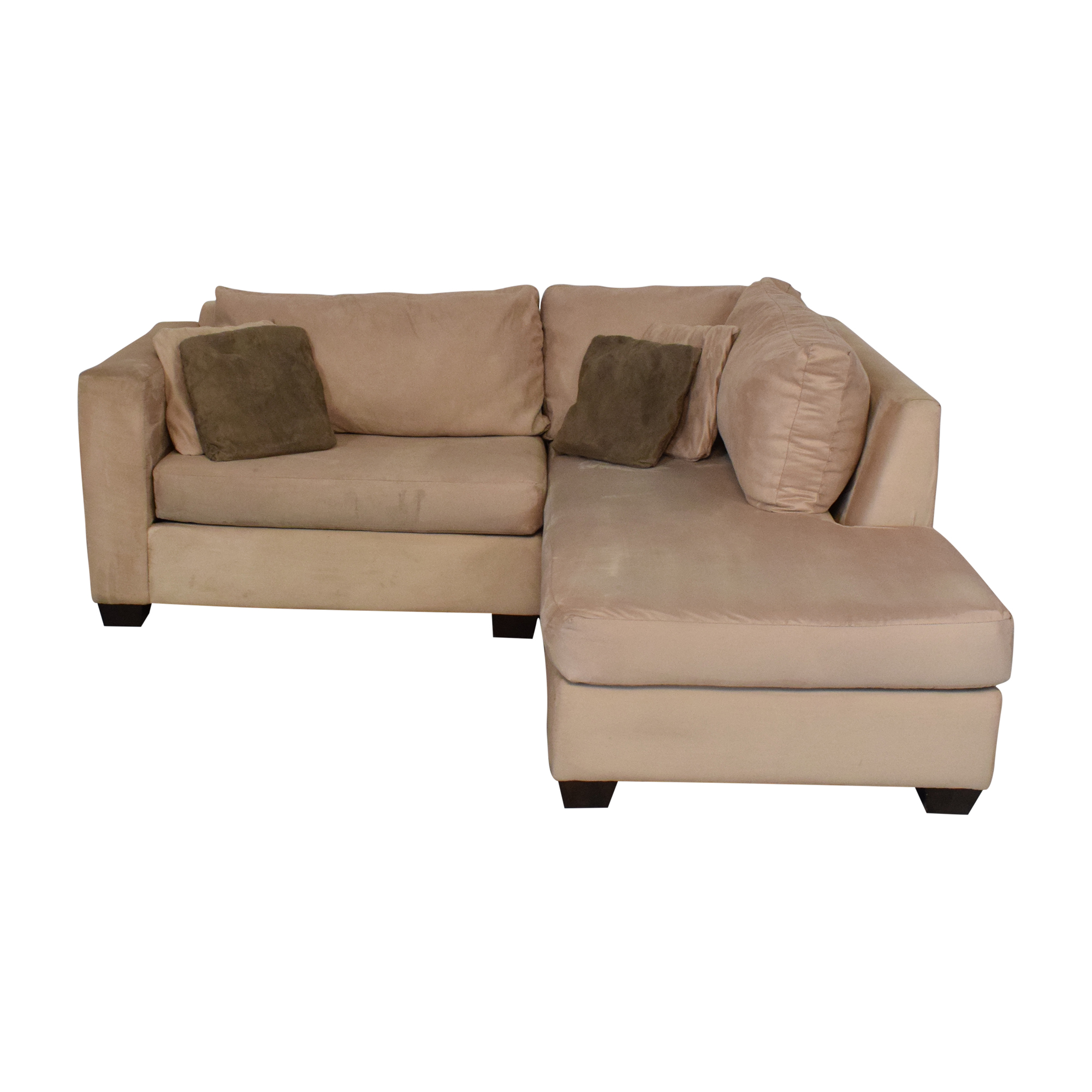 Two-Piece Chaise Sectional Sofa for sale