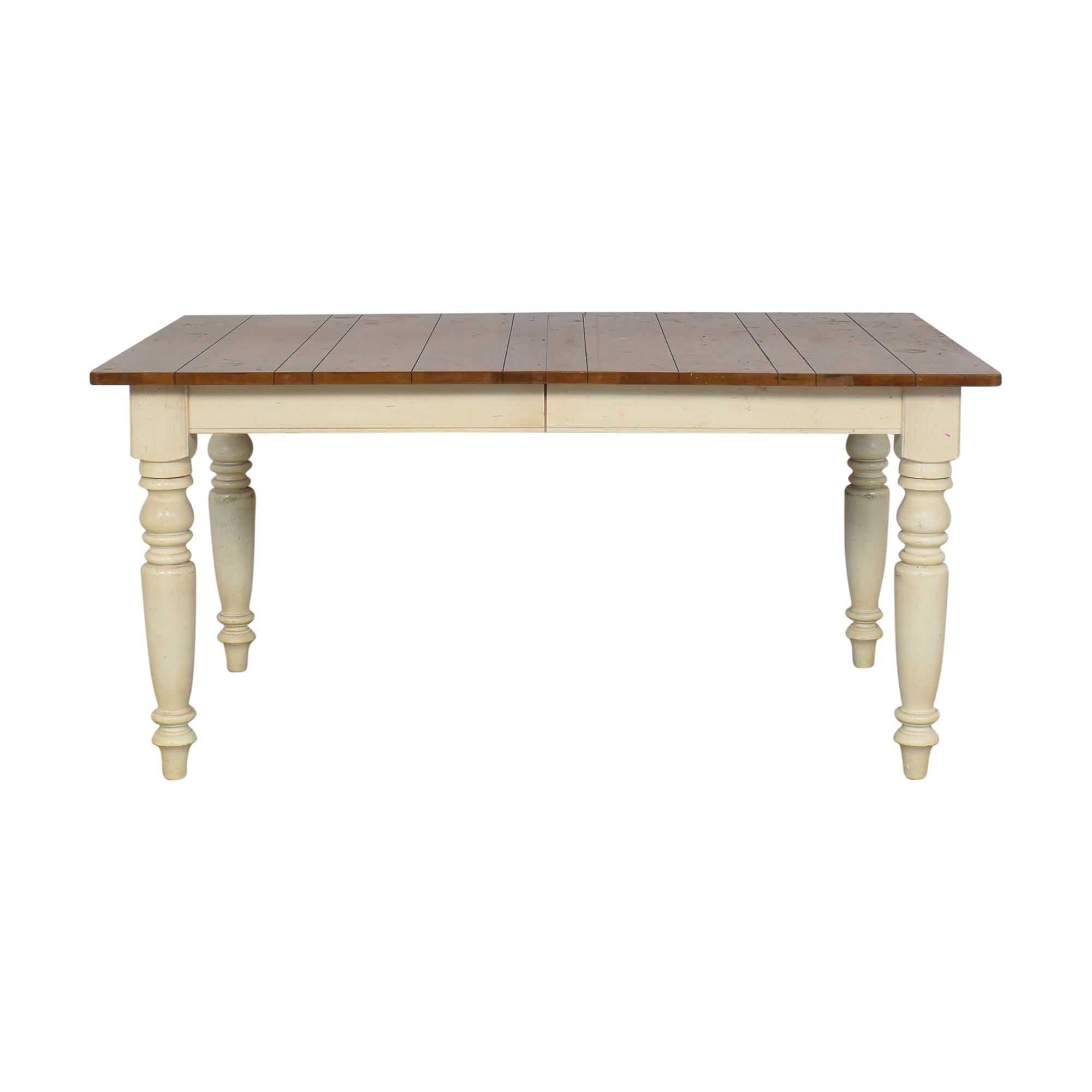 Ethan Allen Farmhouse Dining Table with Leaf / Tables