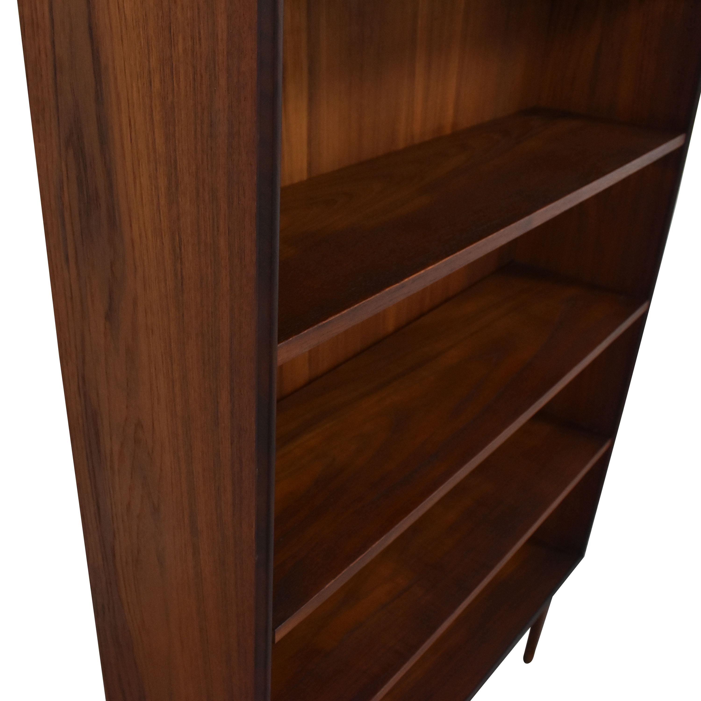 Mid Century Six Shelf Bookcase on sale