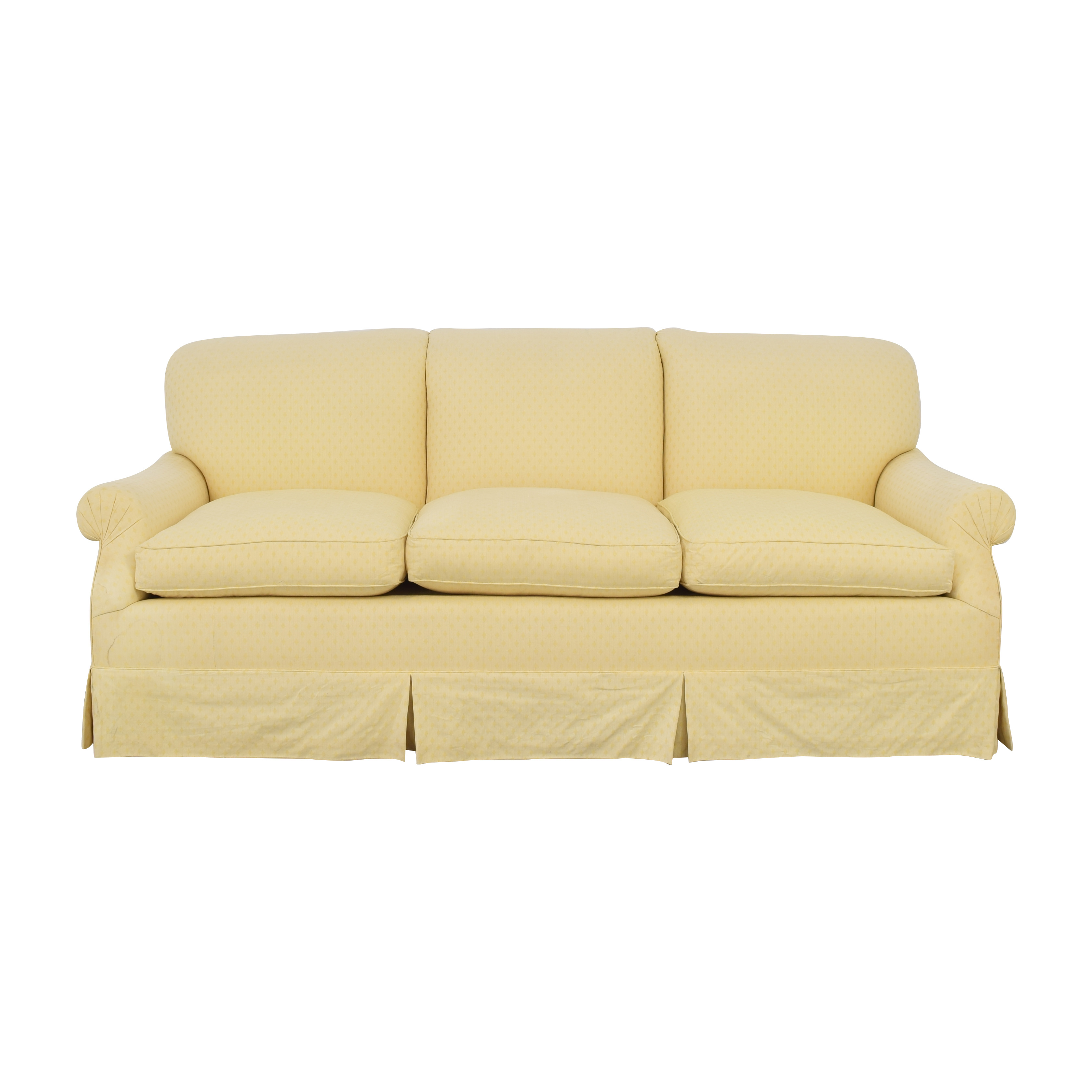 Albert Menin Interiors Albert Menin Skirted Three Seat Sofa dimensions
