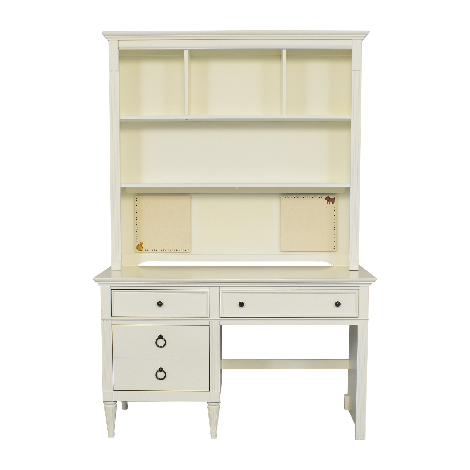 AP Industries Mary-Kate and Ashley Collection Desk with Hutch white