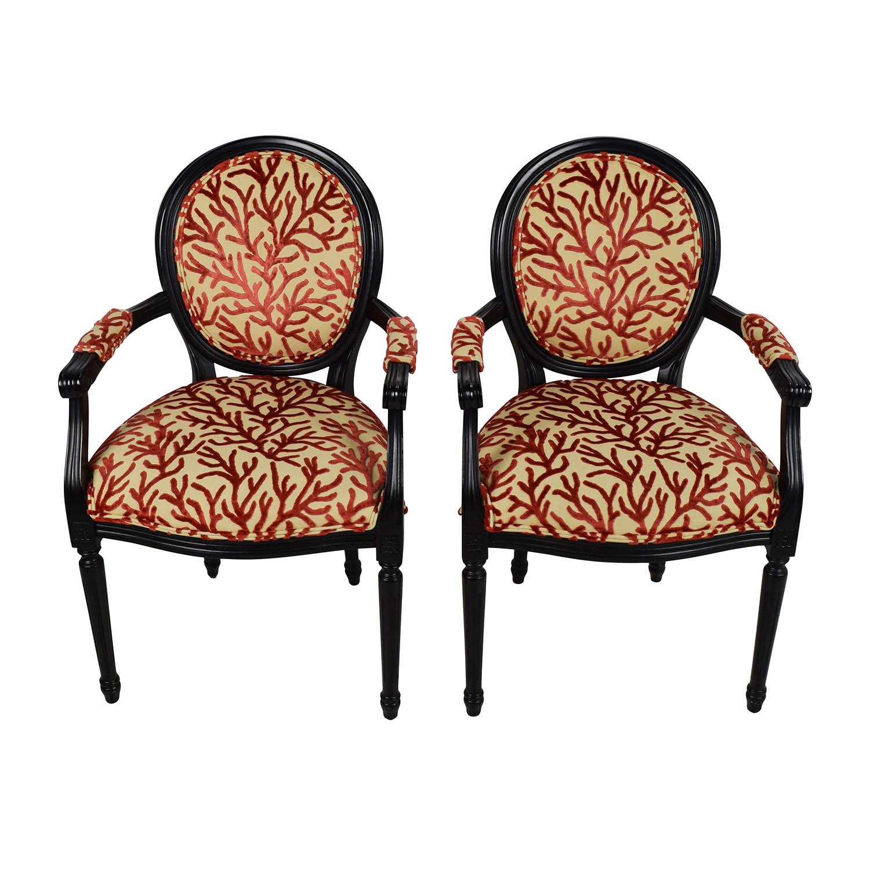 84% OFF   Ballard Designs Ballard Designs Oval Back Louis XVI Armchairs /  Chairs