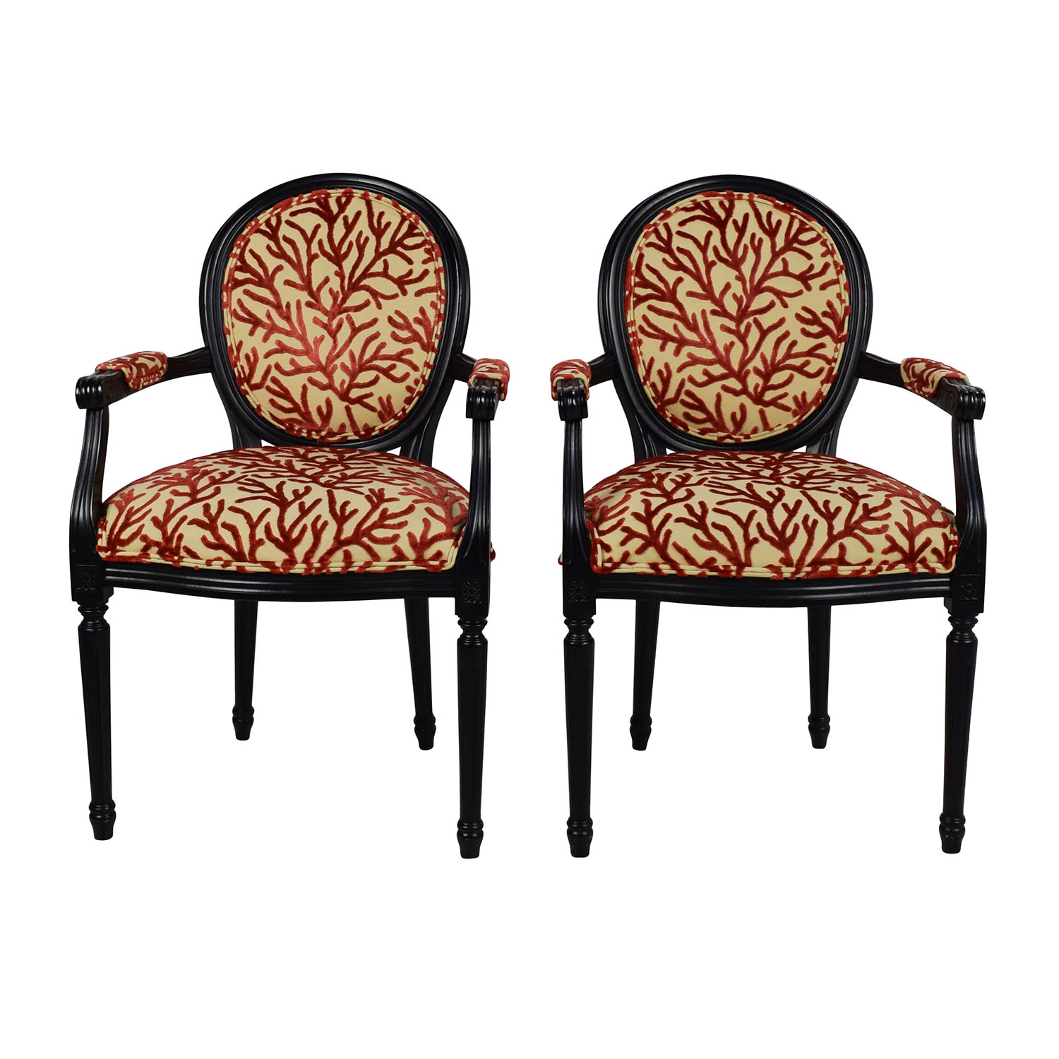 Excellent Ballard Design Off Room U Board Orange Striped Lounge Chair With Designs Chairs