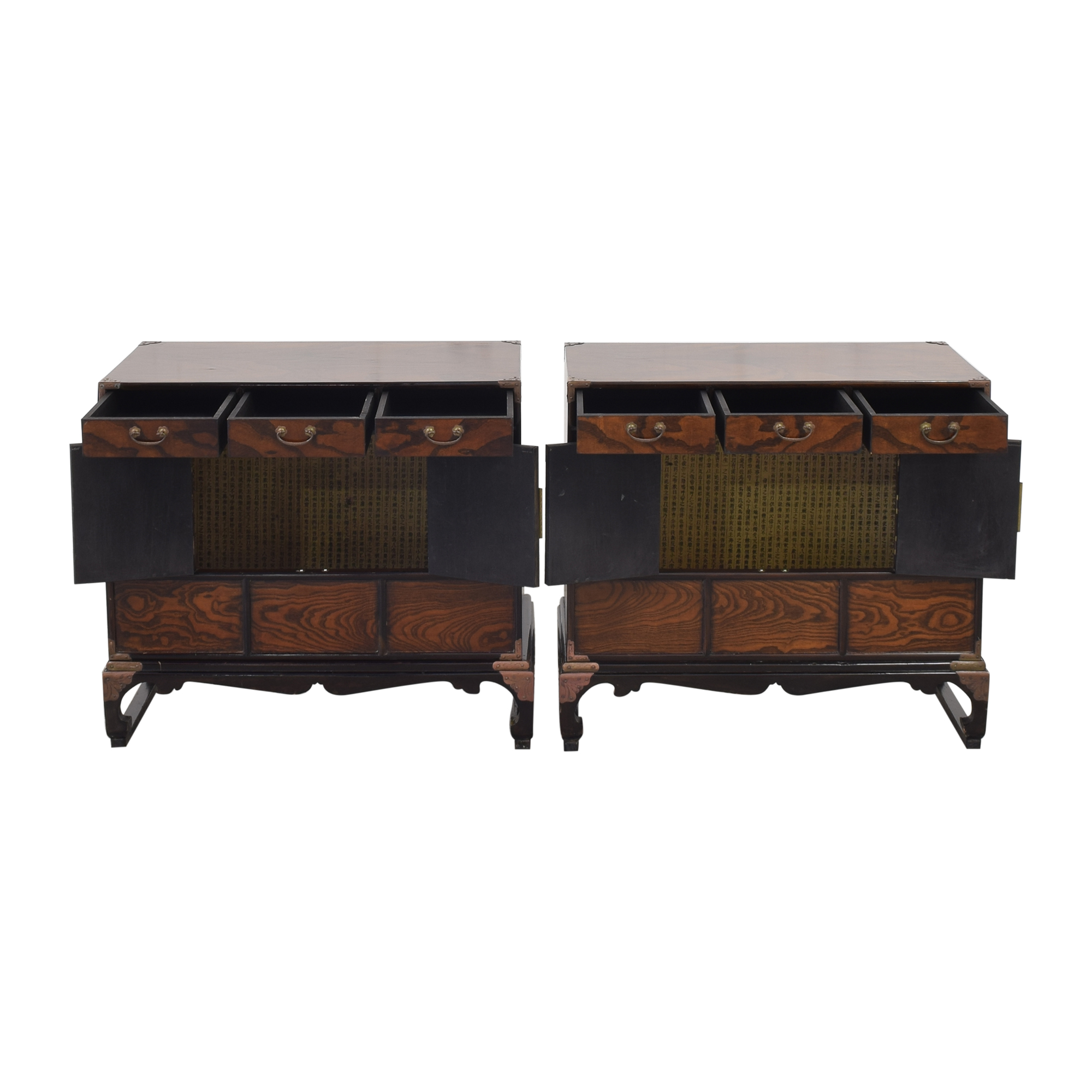 Asian Style Nightstands dimensions