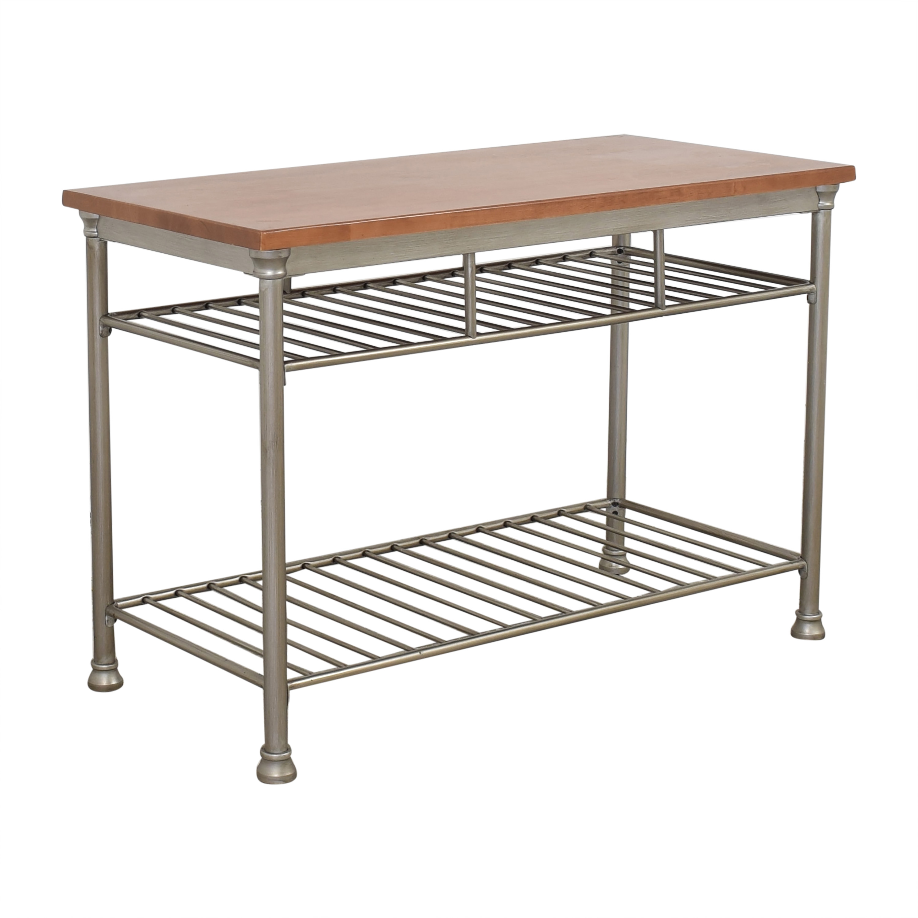 Home Styles Home Styles Orleans Wire Rack Kitchen Island with Caramel Butcher Block Top Utility Tables