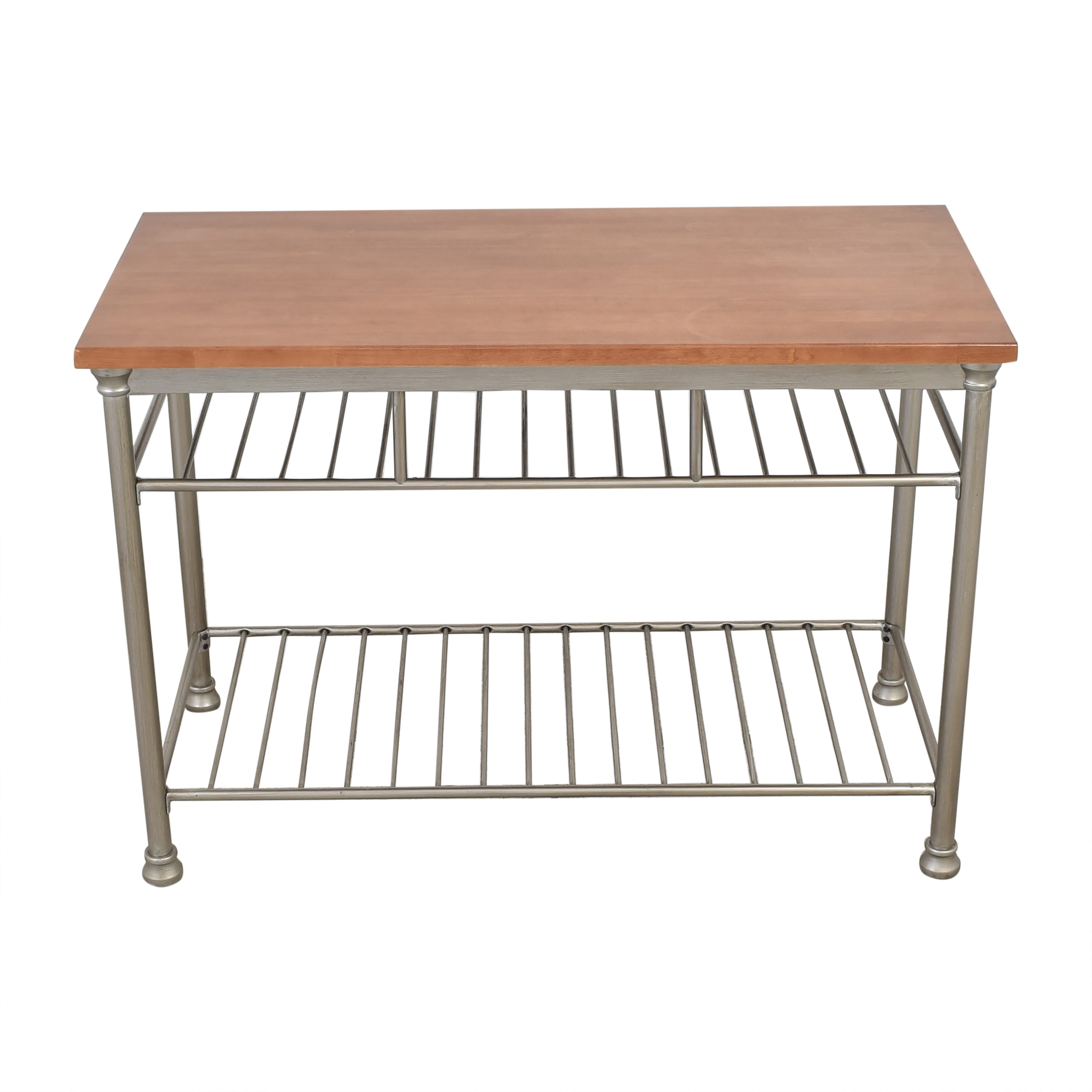 buy Home Styles Home Styles Orleans Wire Rack Kitchen Island with Caramel Butcher Block Top online