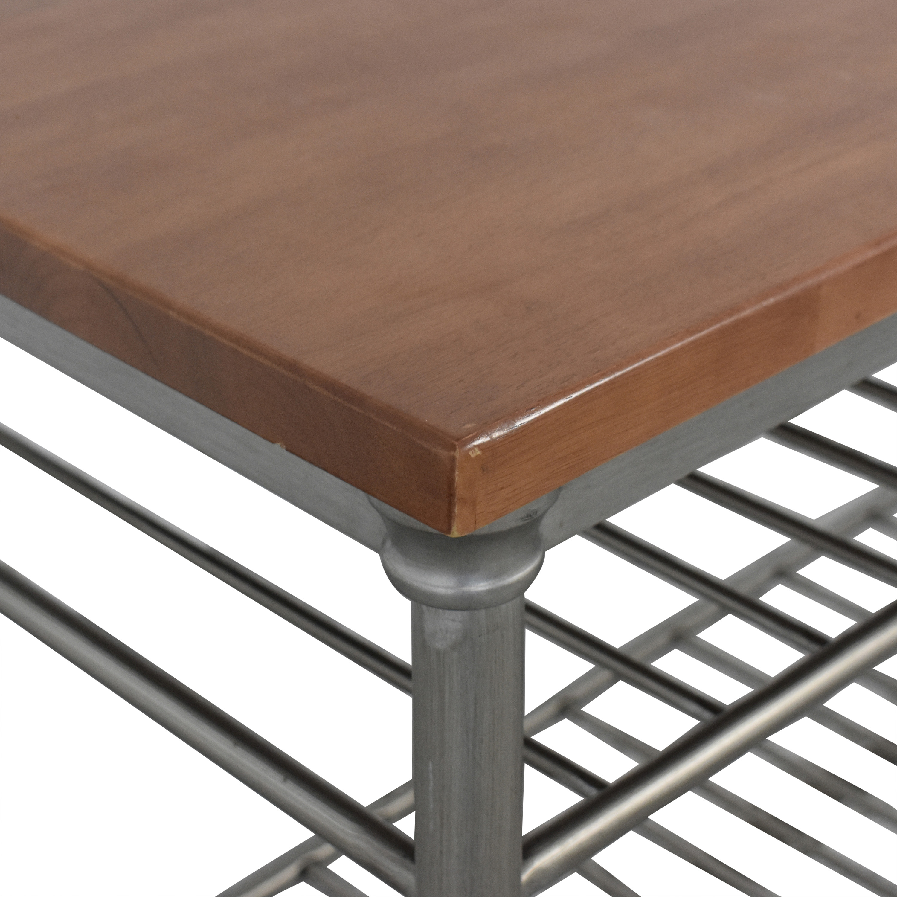Home Styles Home Styles Orleans Wire Rack Kitchen Island with Caramel Butcher Block Top price