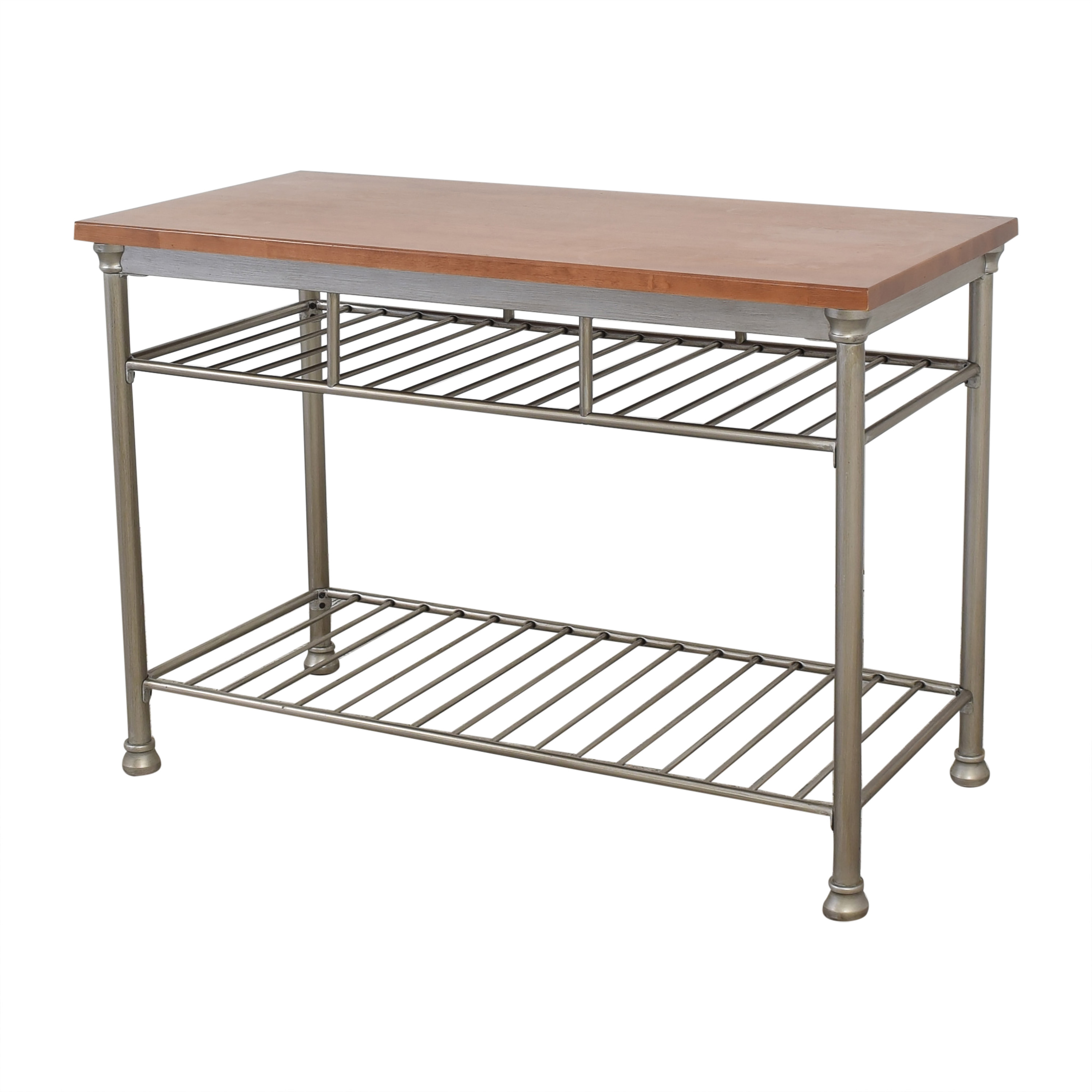 Home Styles Home Styles Orleans Wire Rack Kitchen Island with Caramel Butcher Block Top nj