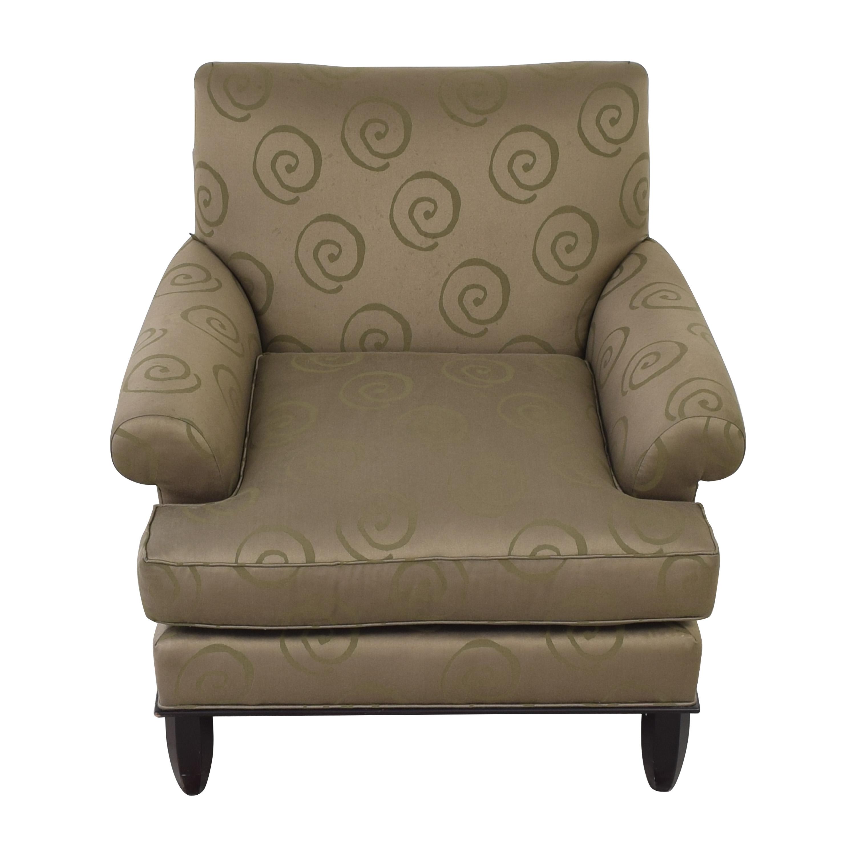 Baker Furniture Baker Roll Arm Lounge Chair discount