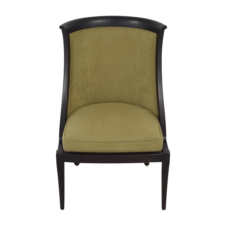 Ethan Allen Ethan Allen Accent Chair green & dark brown