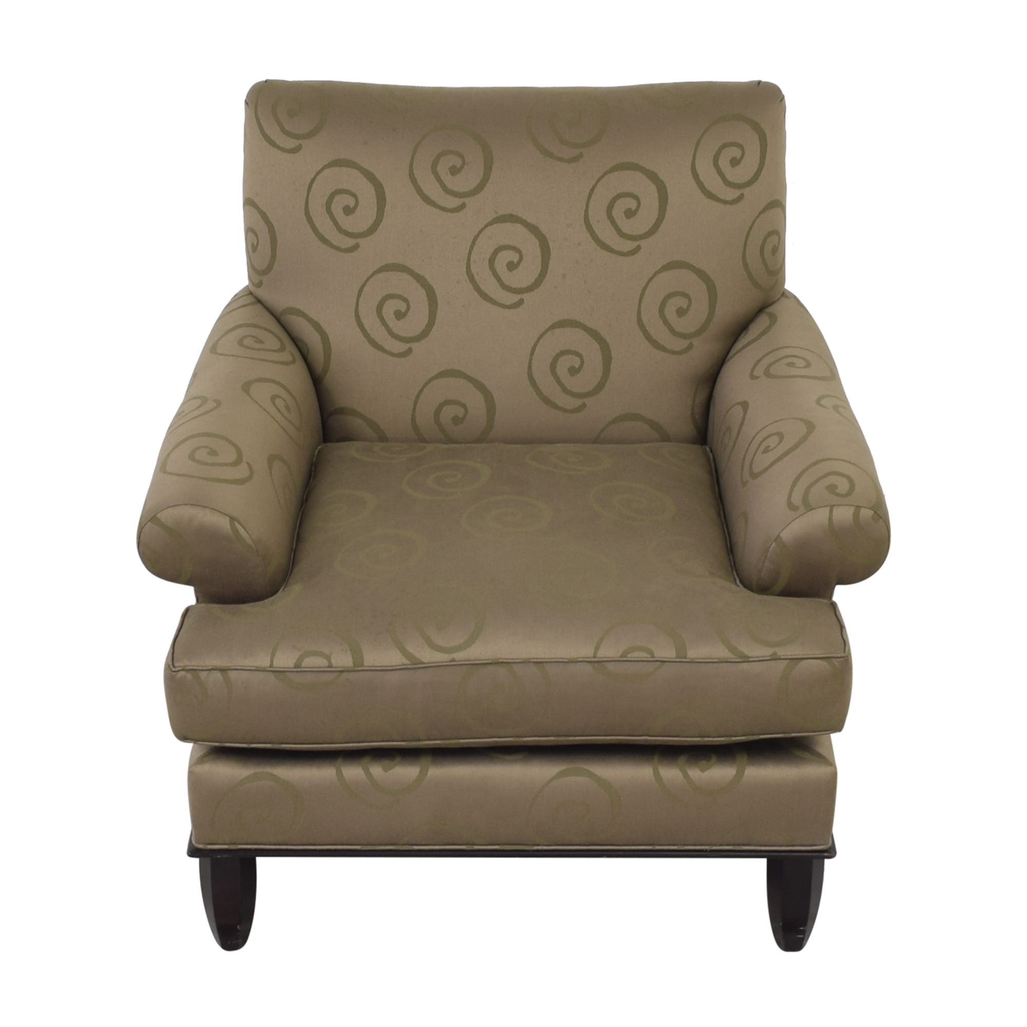 Baker Furniture Baker Roll Arm Lounge Chair for sale