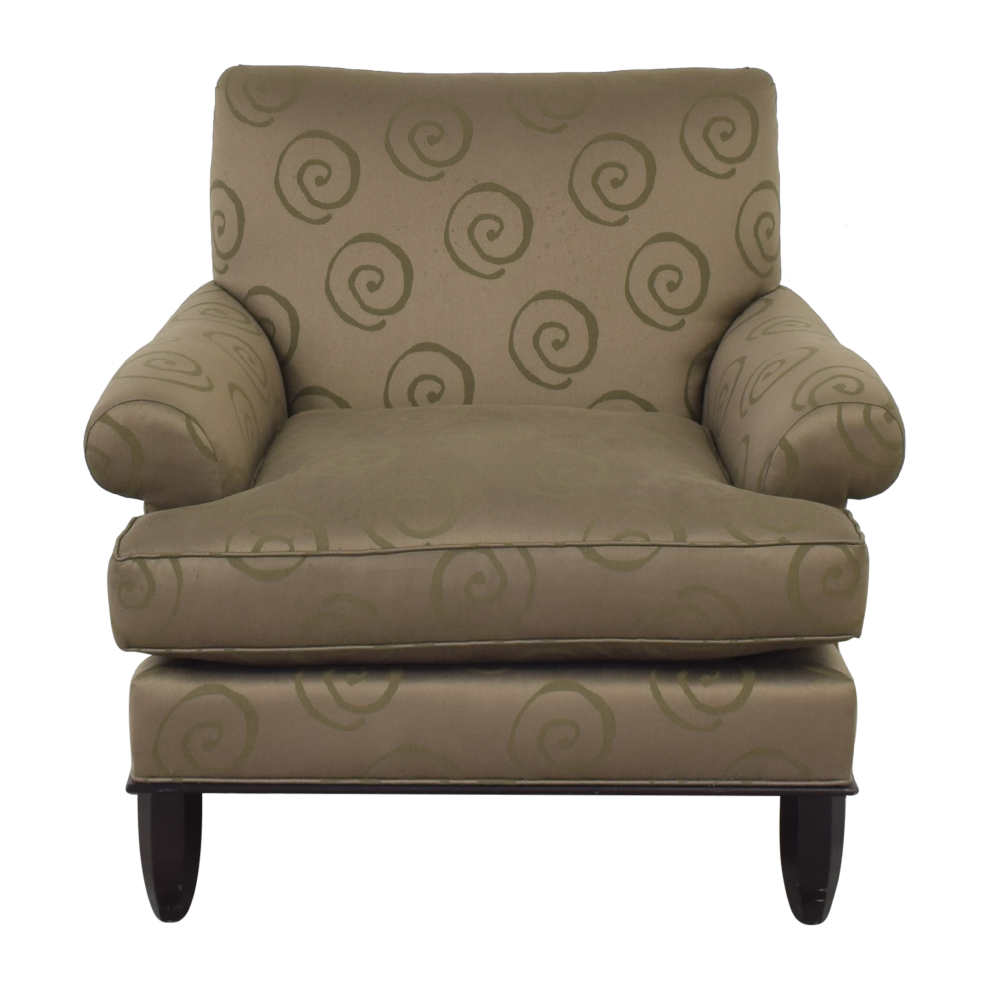 Baker Roll Arm Lounge Chair / Accent Chairs