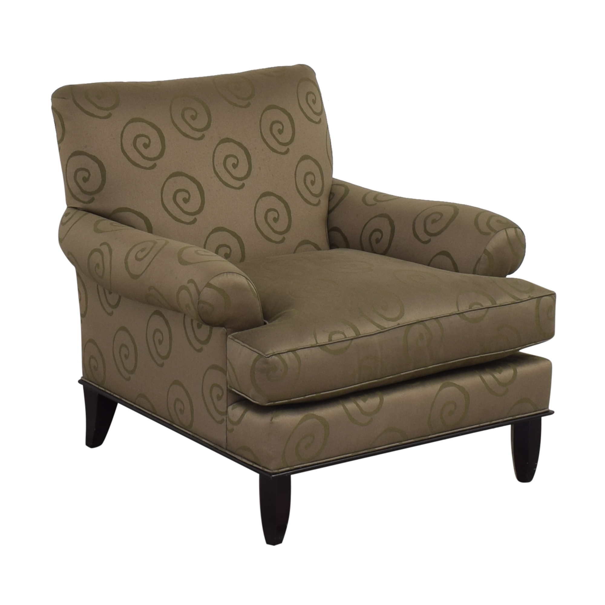Baker Furniture Baker Roll Arm Lounge Chair ct