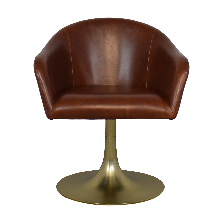 West Elm West Elm Bond Leather Swivel Chair dimensions