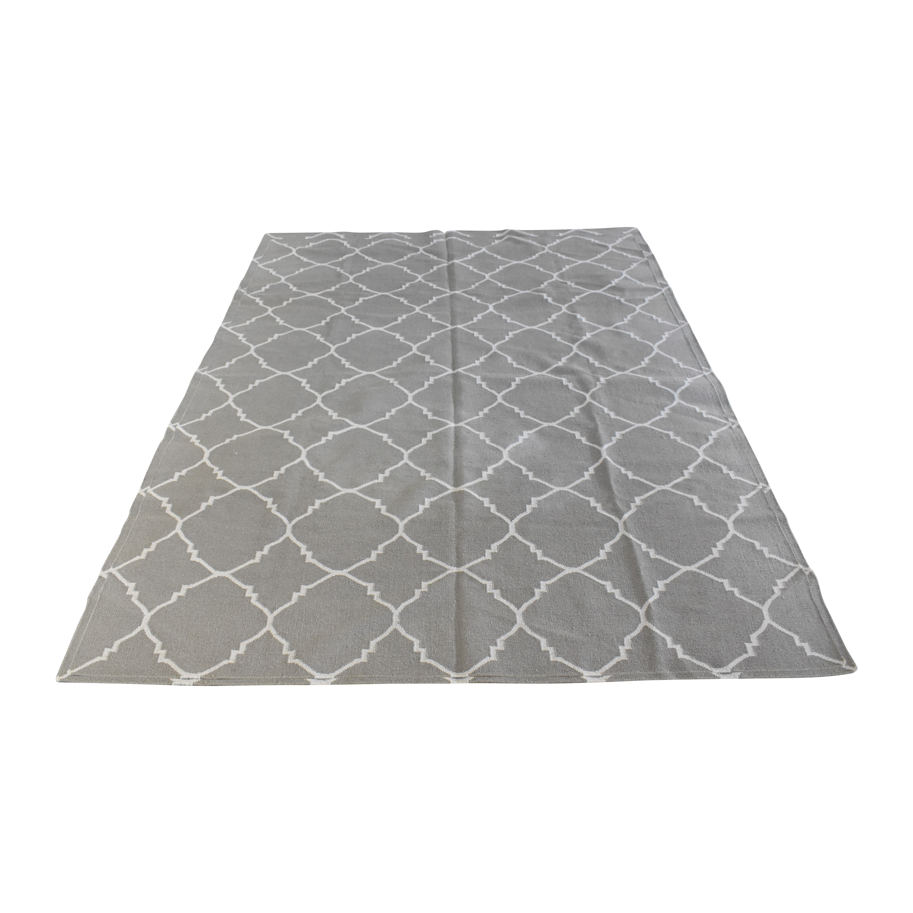 Shades of Light Shades of Light Diamond Soho Trellis Dhurrie Rug used