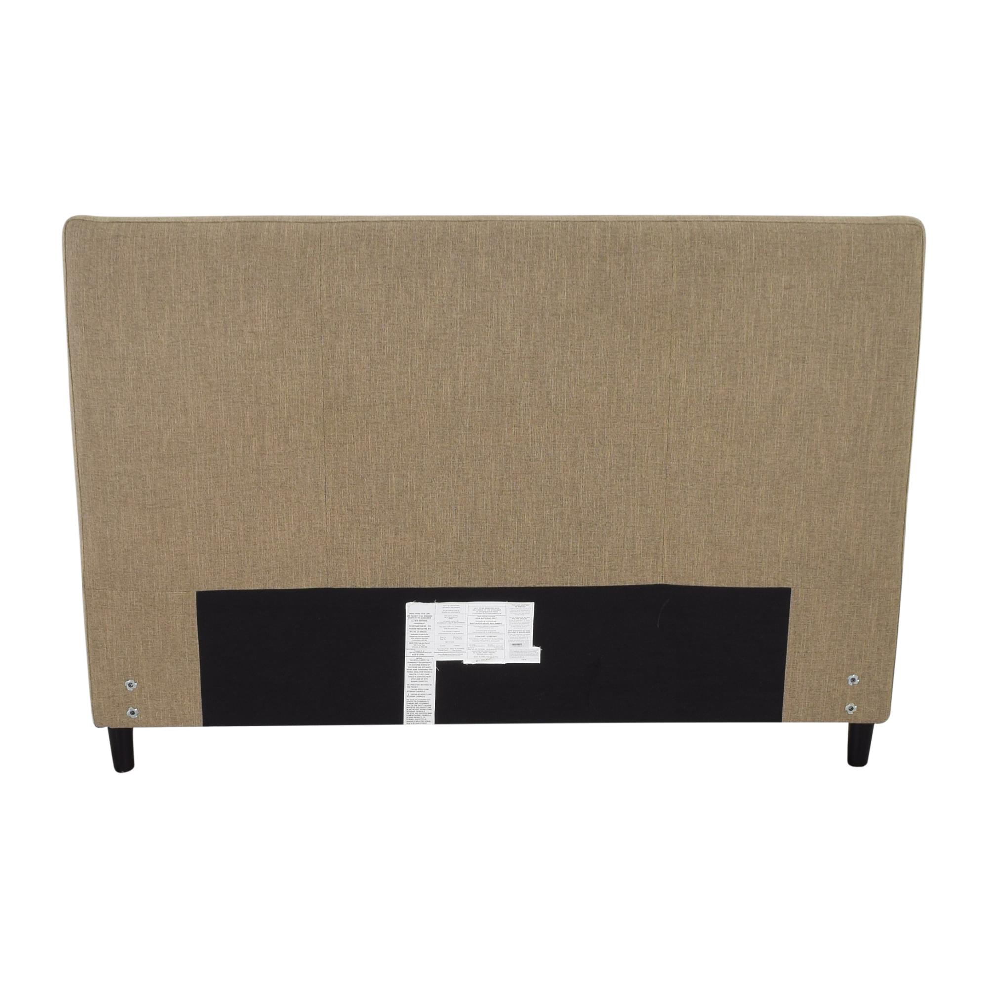 Crate & Barrel Crate & Barrel Lowe Upholstered Queen Headboard pa