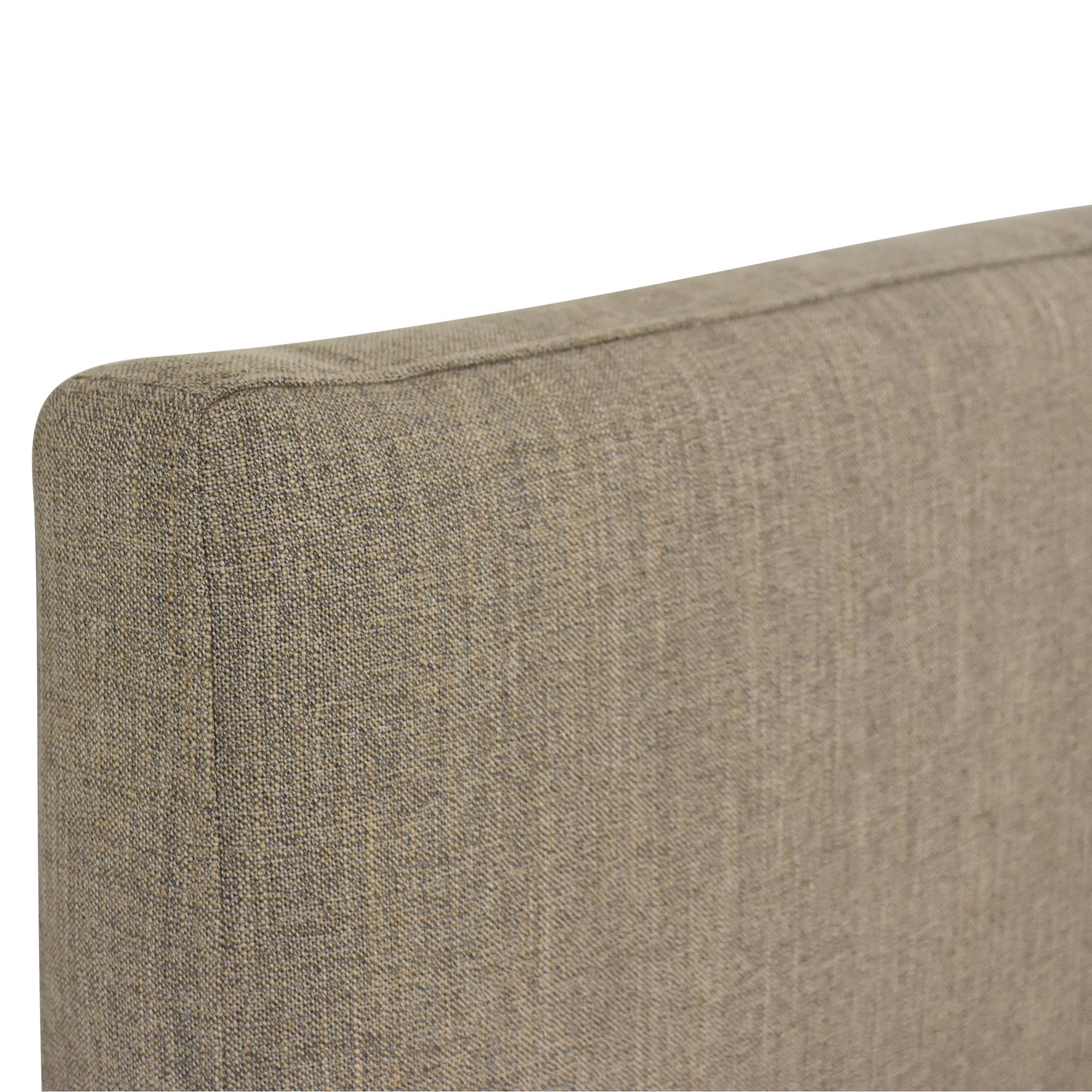 Crate & Barrel Crate & Barrel Lowe Upholstered Queen Headboard Beds