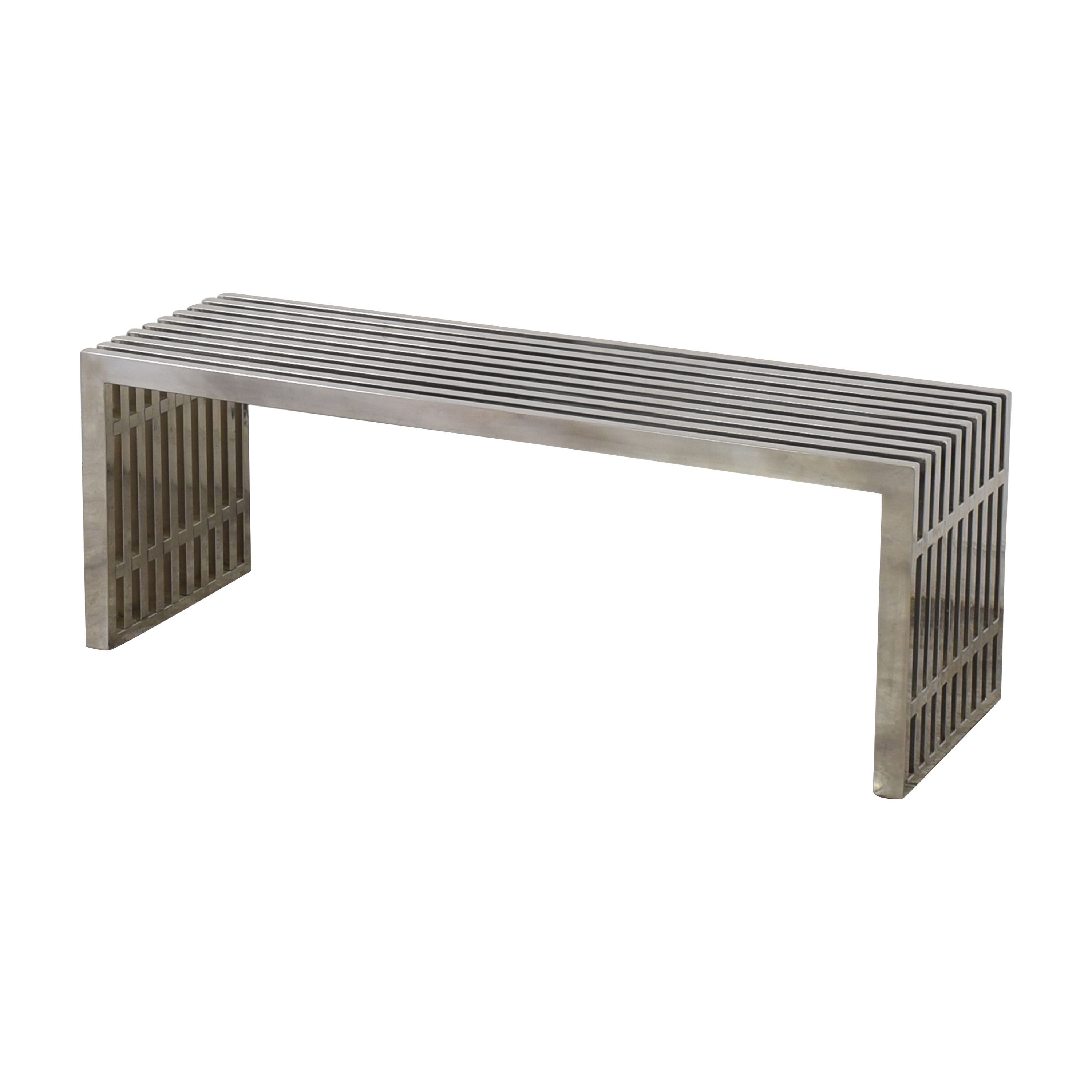 Lexmod Gridiron Medium Stainless Steel Bench / Benches