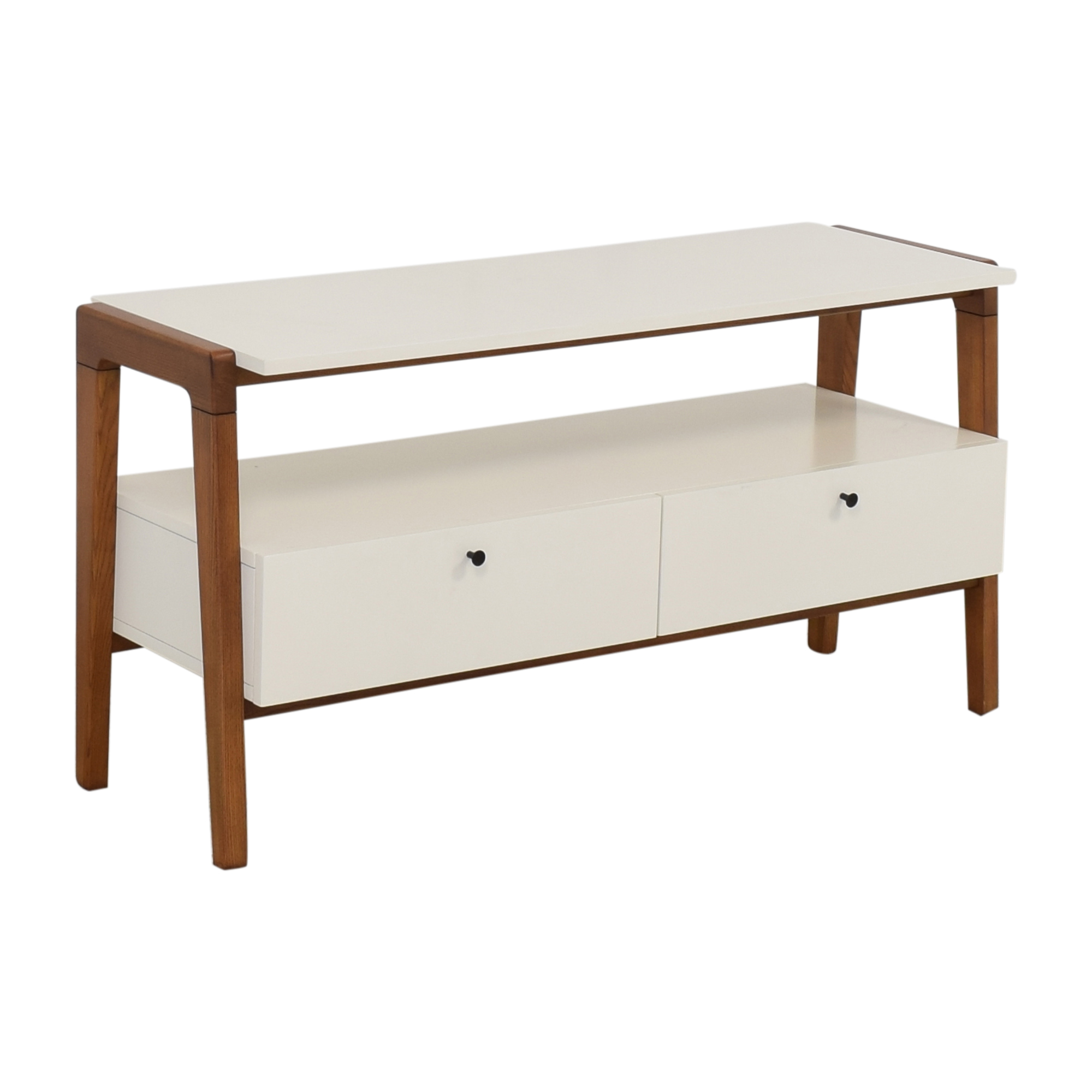 West Elm West Elm Modern Media Console white & brown