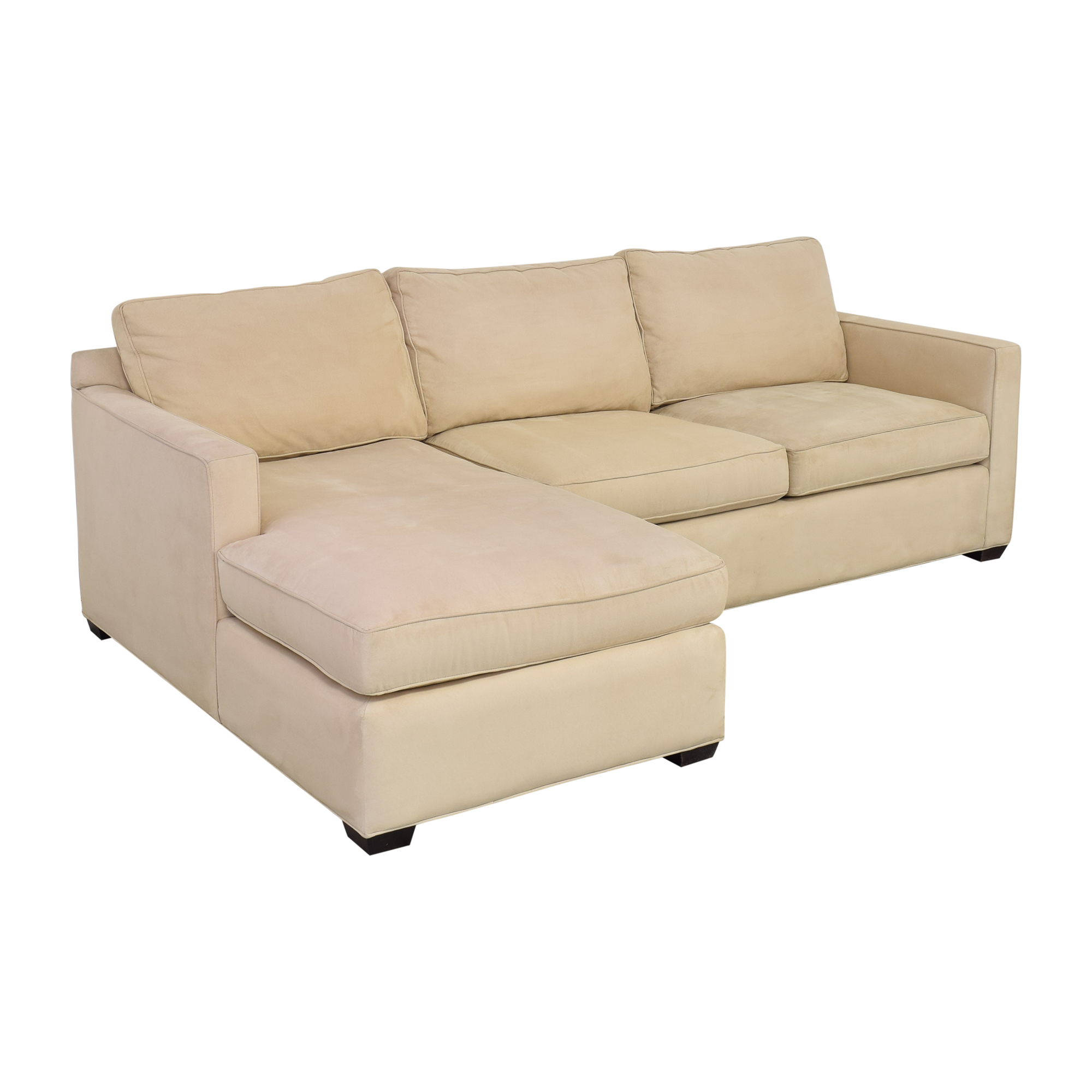 buy Crate & Barrel Davis Chaise Sectional Sofa Crate & Barrel Sofas
