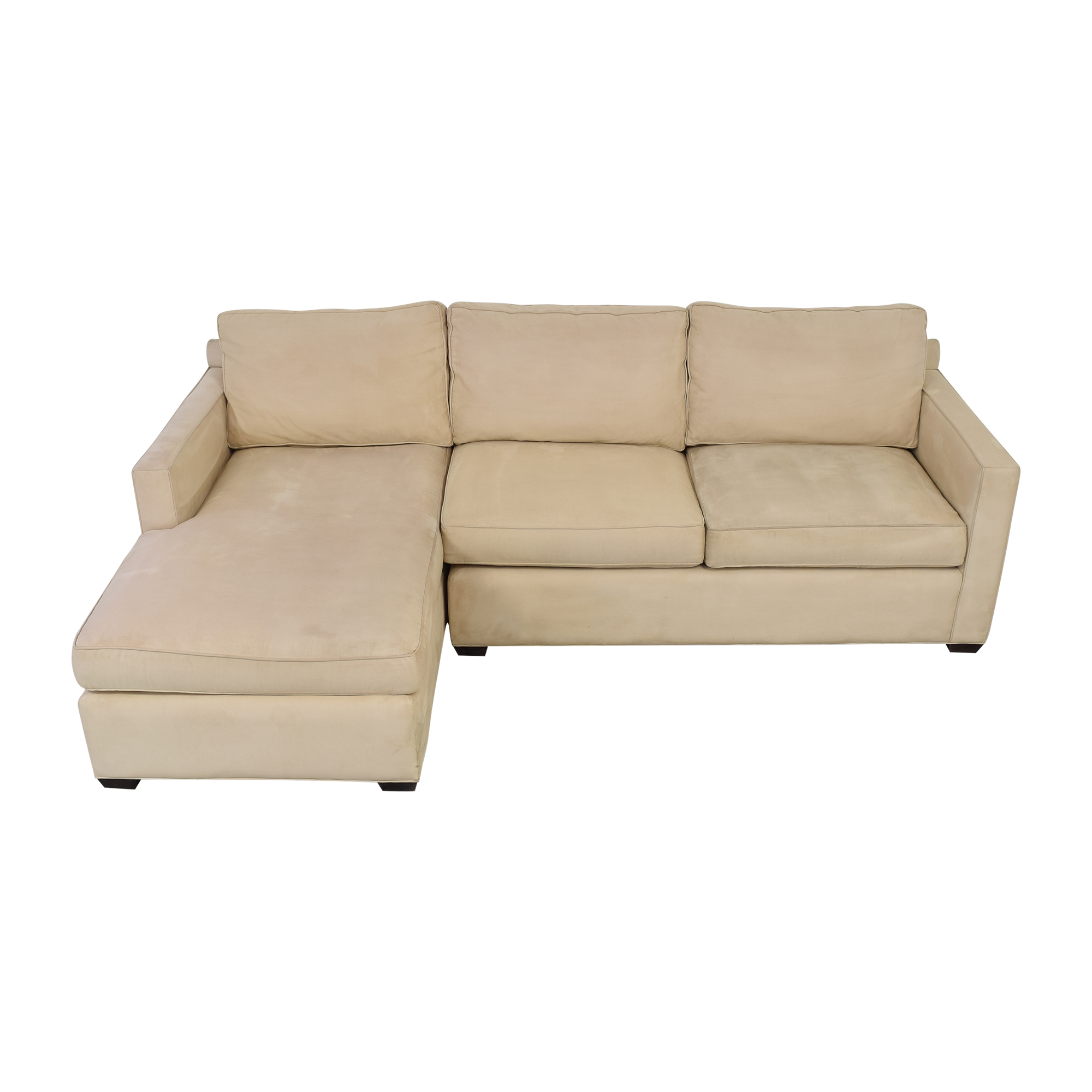 buy Crate & Barrel Crate & Barrel Davis Chaise Sectional Sofa online