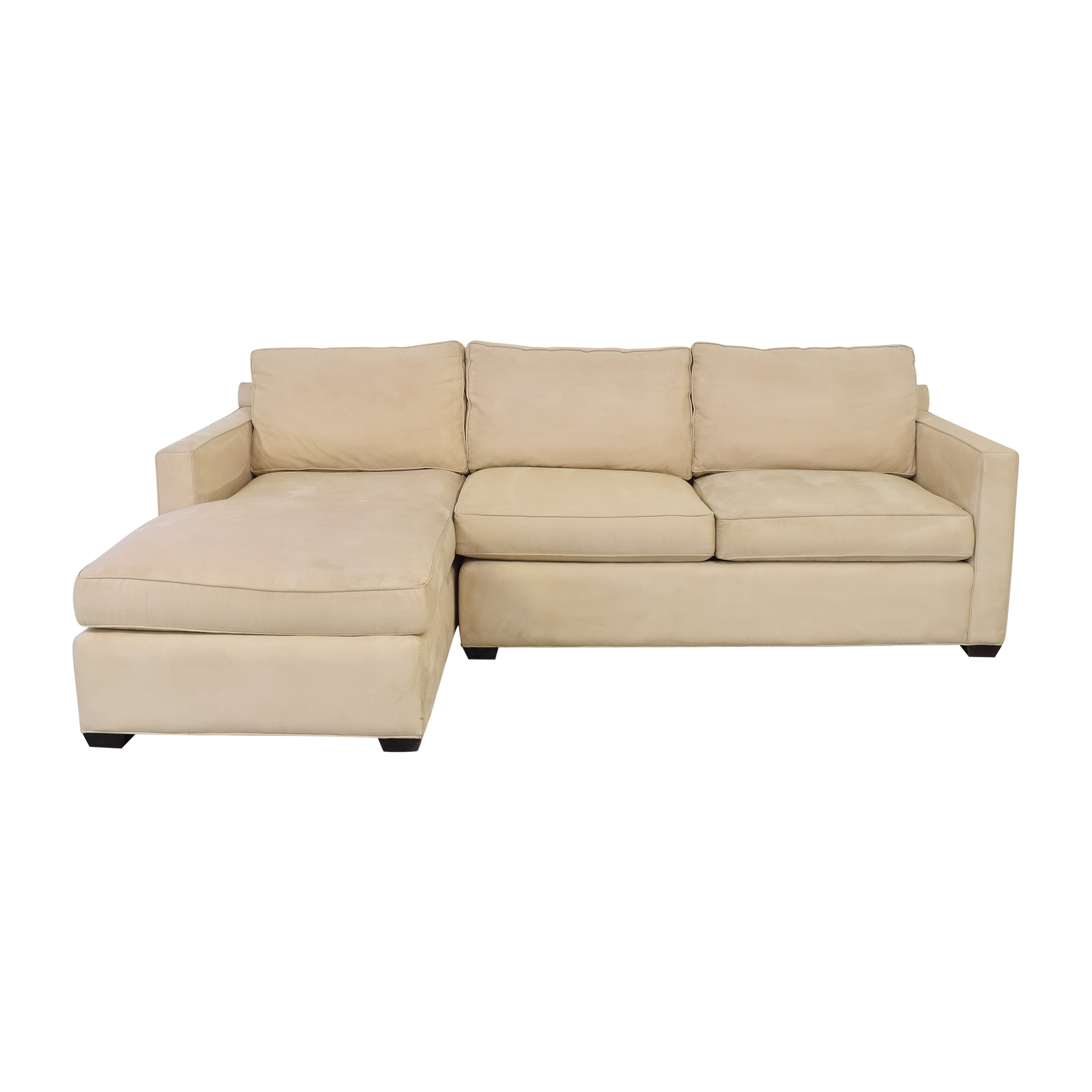 shop Crate & Barrel Davis Chaise Sectional Sofa Crate & Barrel Sofas