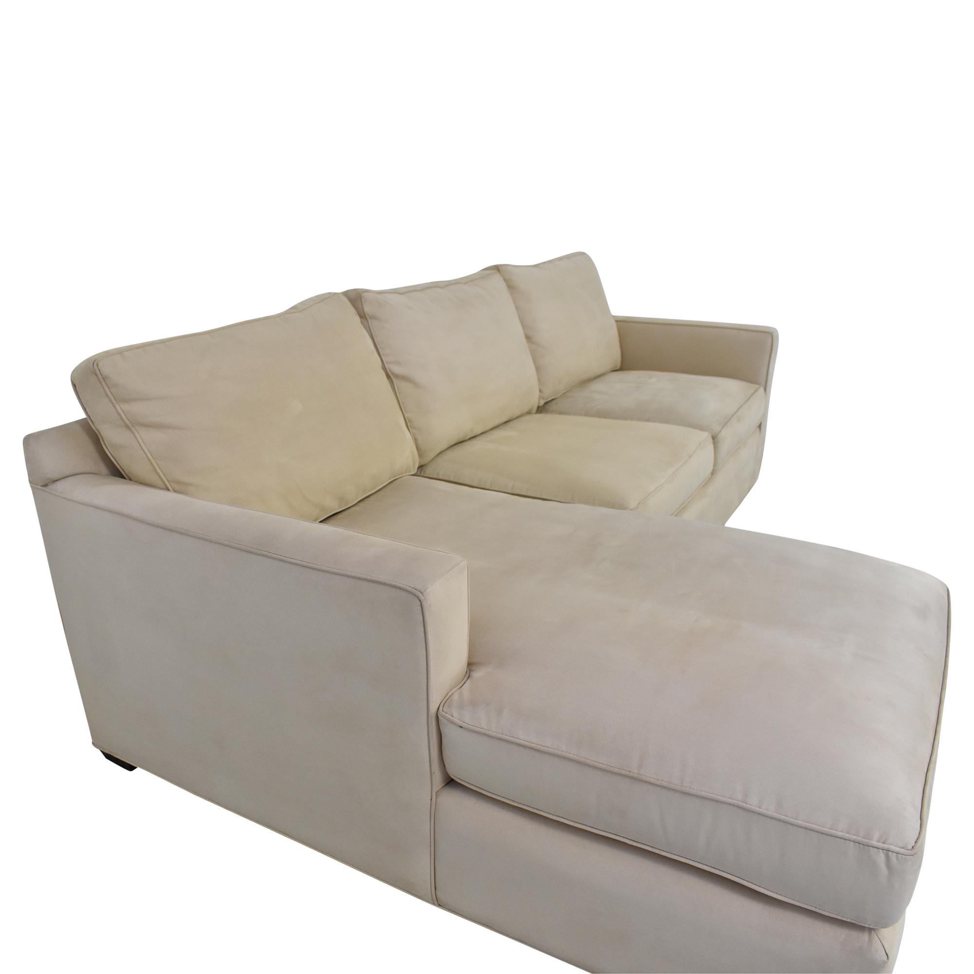 shop Crate & Barrel Crate & Barrel Davis Chaise Sectional Sofa online