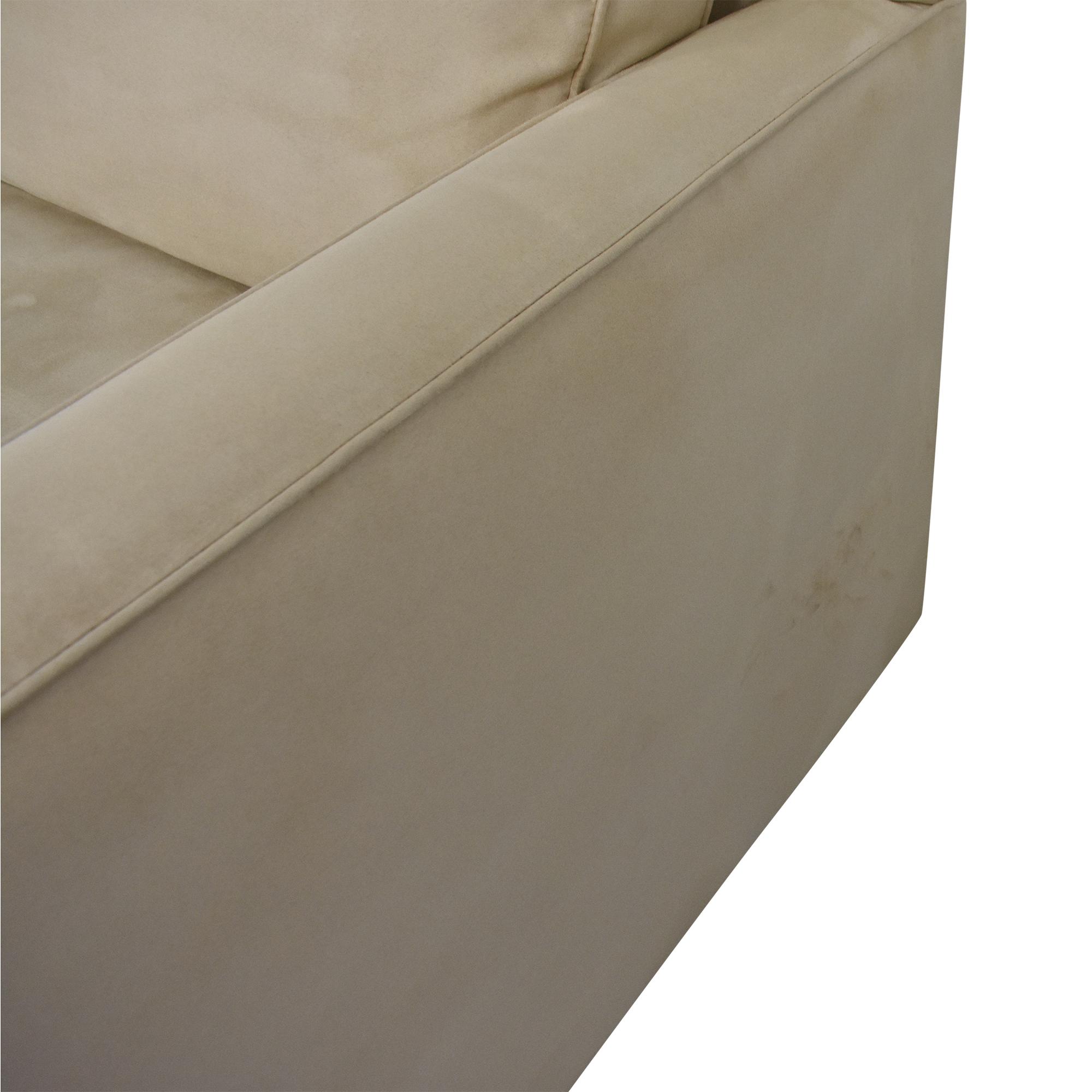 Crate & Barrel Crate & Barrel Davis Chaise Sectional Sofa price