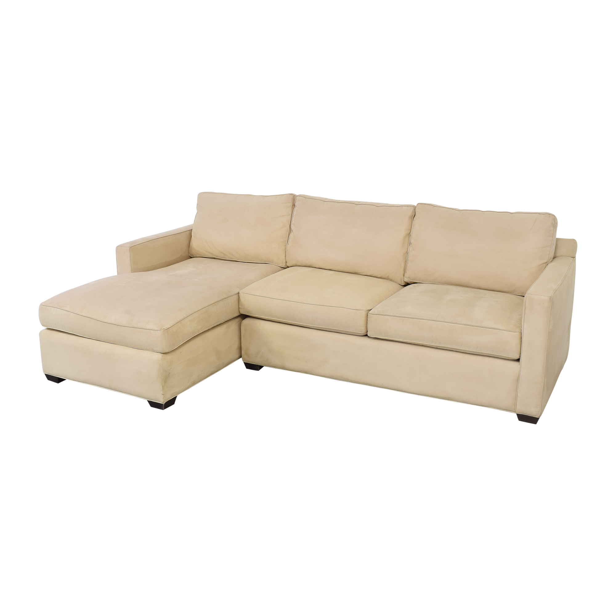 Crate & Barrel Crate & Barrel Davis Chaise Sectional Sofa used