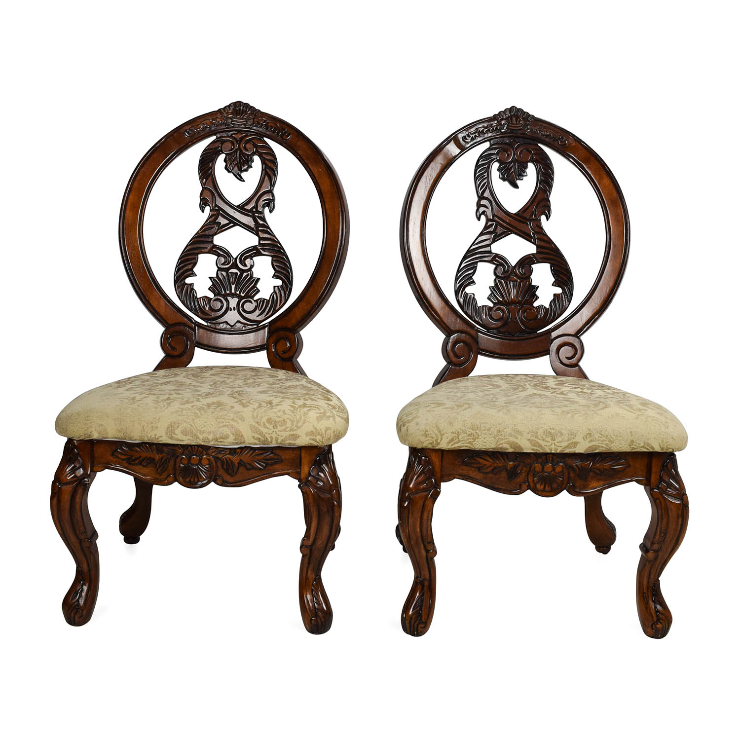 more photos 01efd dc4c9 90% OFF - Furniture of America Tuscany II Traditional Dining Chair Pair /  Chairs