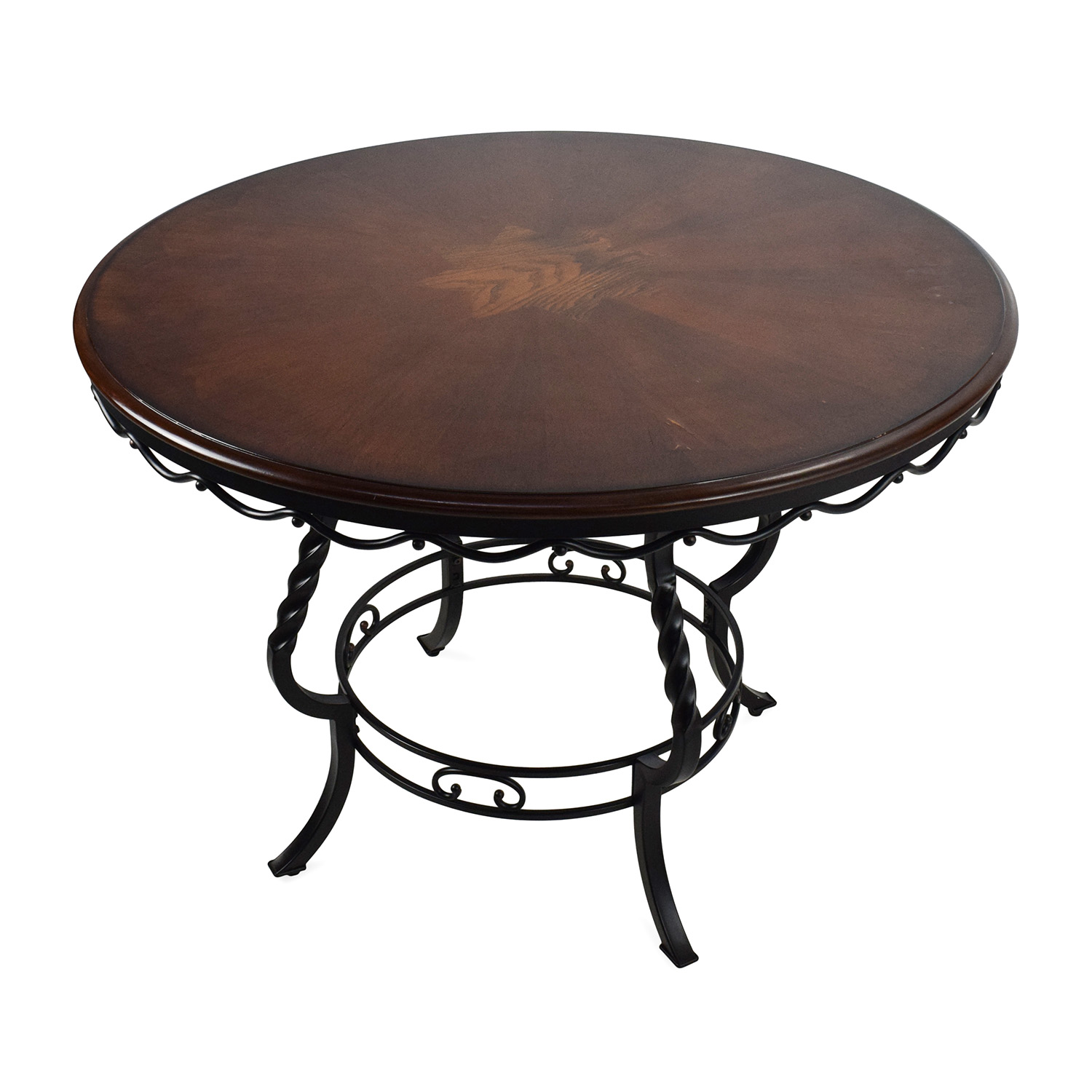 84 off ashley furniture ashley nola round dining table for Furniture dining table
