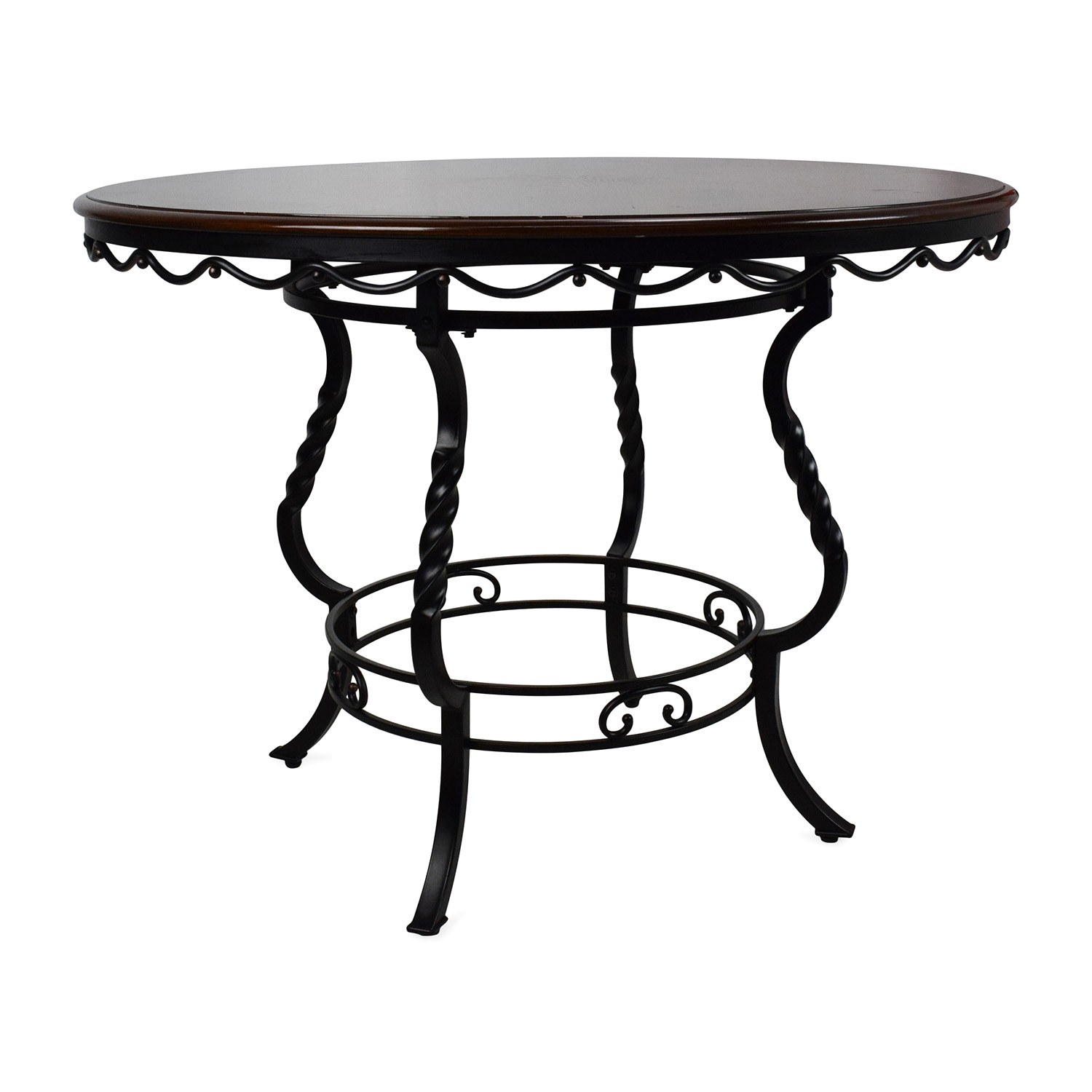 84 off ashley furniture ashley nola round dining table tables. Black Bedroom Furniture Sets. Home Design Ideas