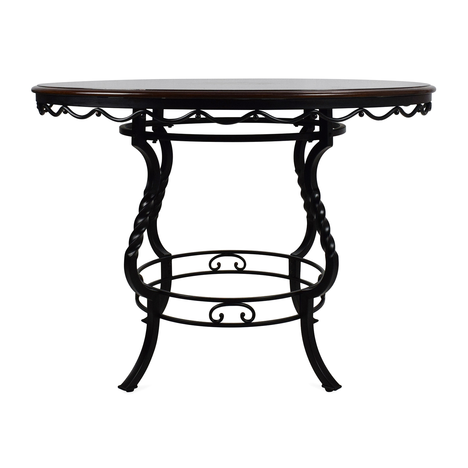 OFF Ashley Furniture Ashley Nola Round Dining Table Tables - Ashley furniture high top table