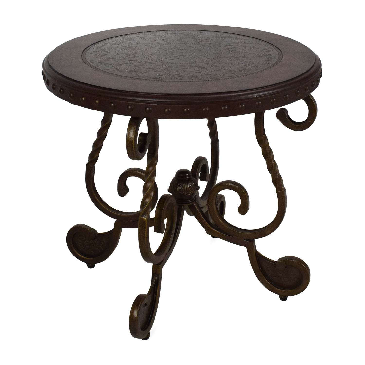 OFF Ashley Furniture Ashley Rafferty Round End Table Tables - Ashley furniture high top table