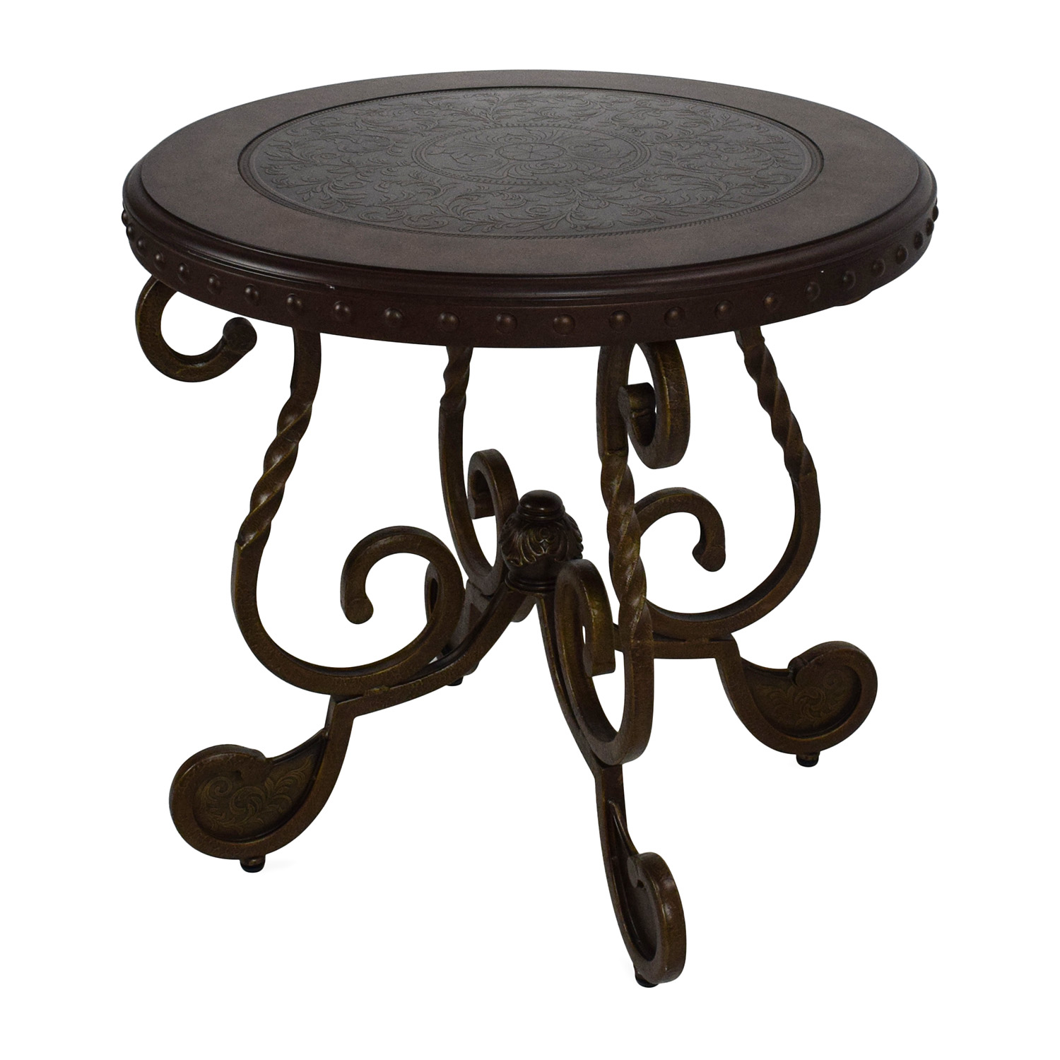 90 off ashley furniture ashley rafferty round end table for Rafferty coffee table