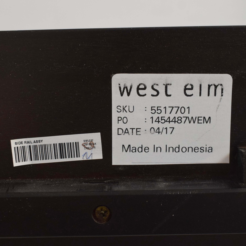buy West Elm Simple Bed Frame with Tufted Headboard West Elm Bed Frames
