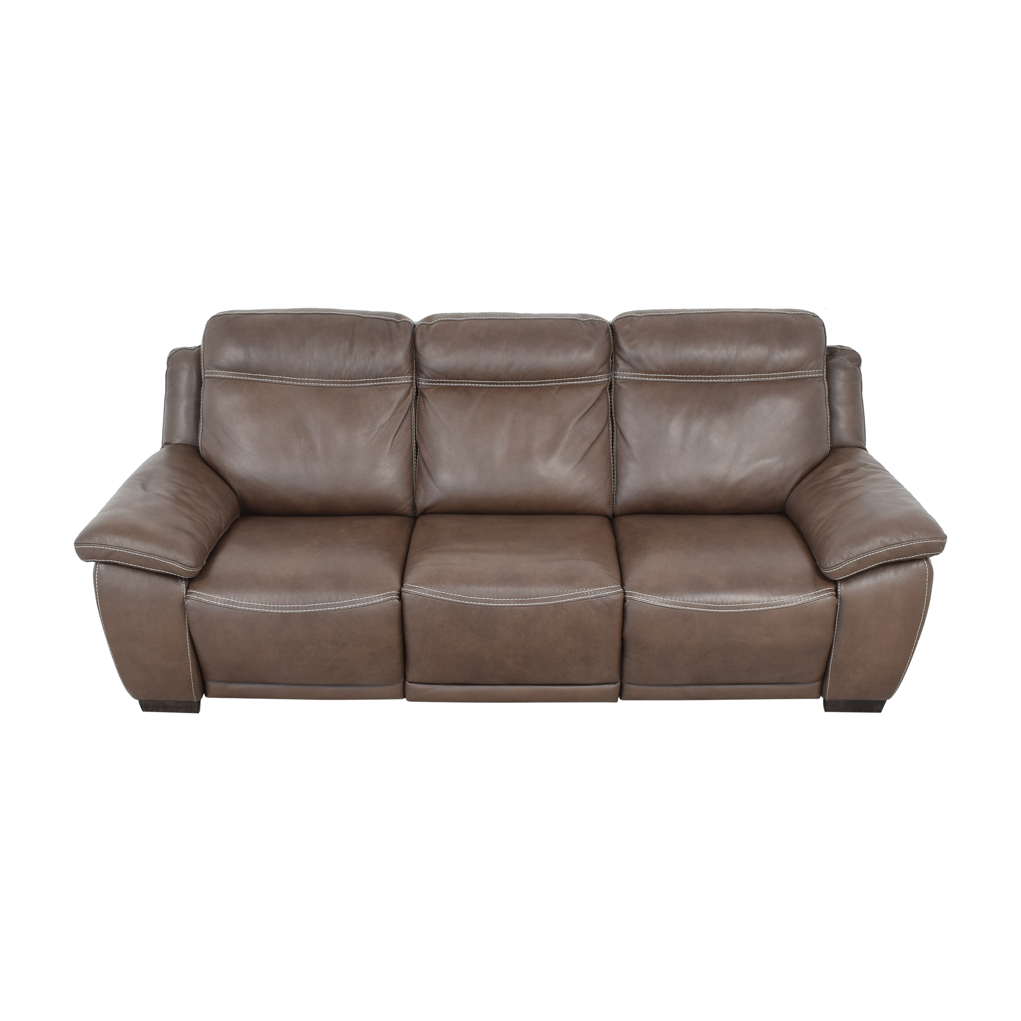 Raymour & Flanigan Sofa with Two Recliners Raymour & Flanigan