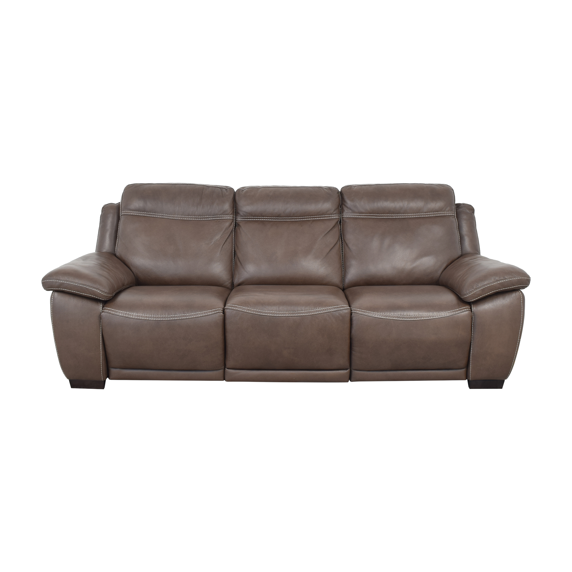Raymour & Flanigan Raymour & Flanigan Sofa with Two Recliners Classic Sofas