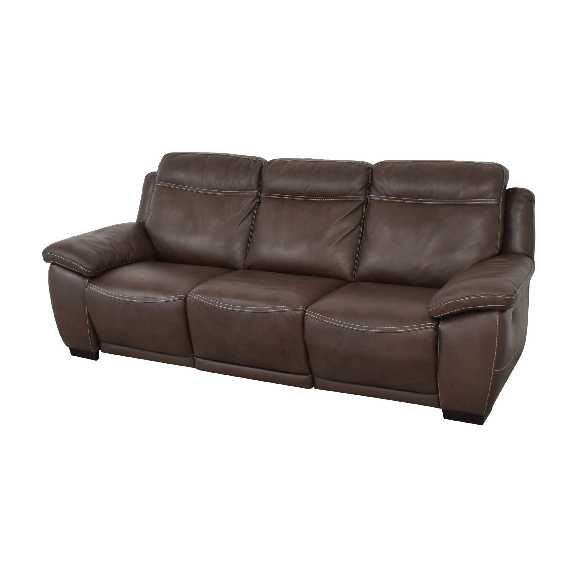 Raymour & Flanigan Raymour & Flanigan Sofa with Two Recliners brown