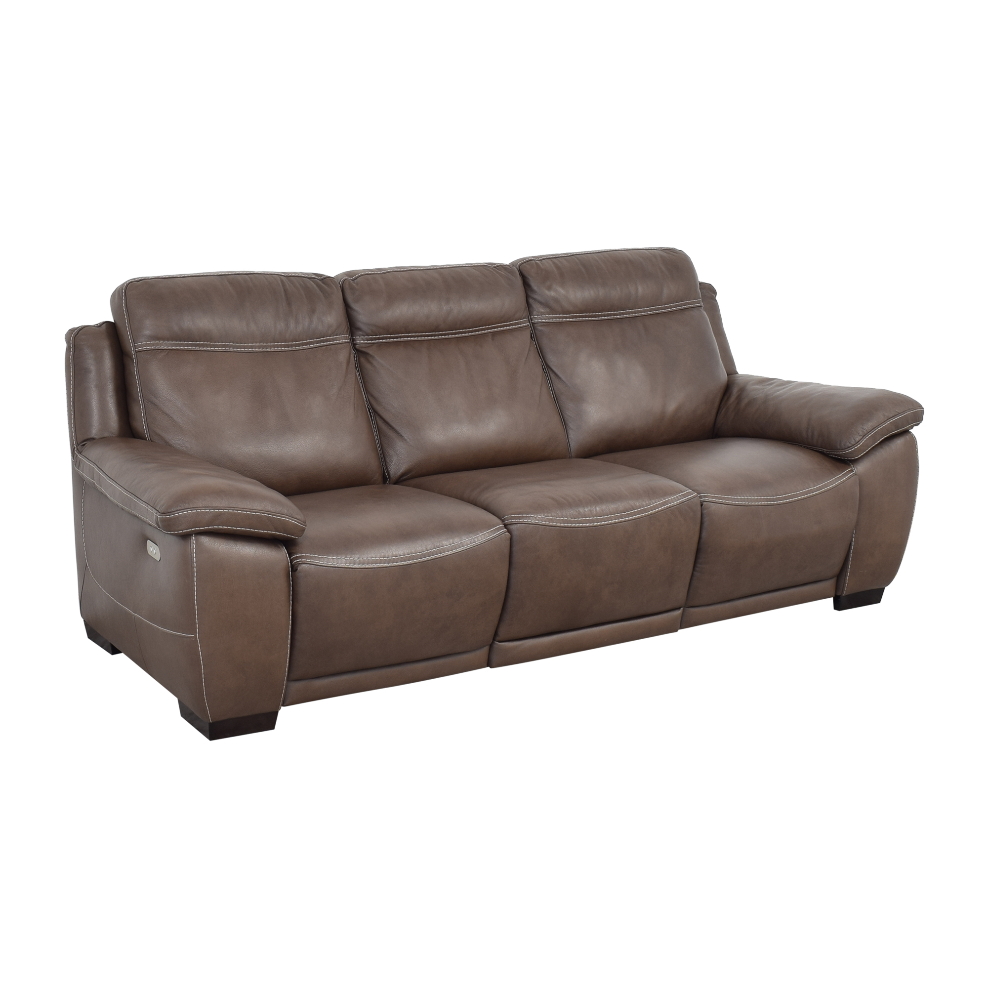 shop Raymour & Flanigan Sofa with Two Recliners Raymour & Flanigan Classic Sofas