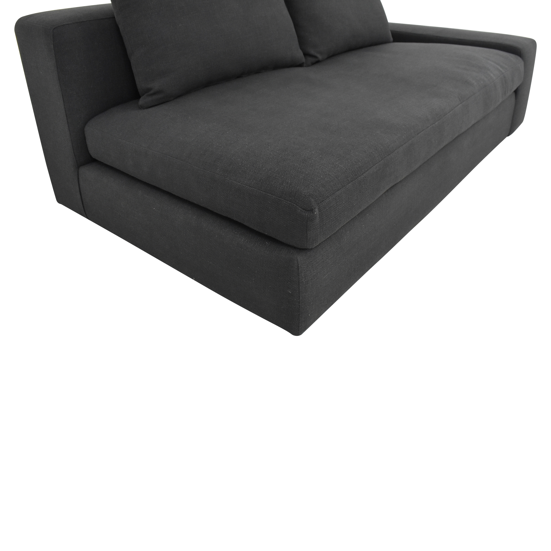 shop CB2 Arlo Wide Right Arm Sofa CB2 Sofas