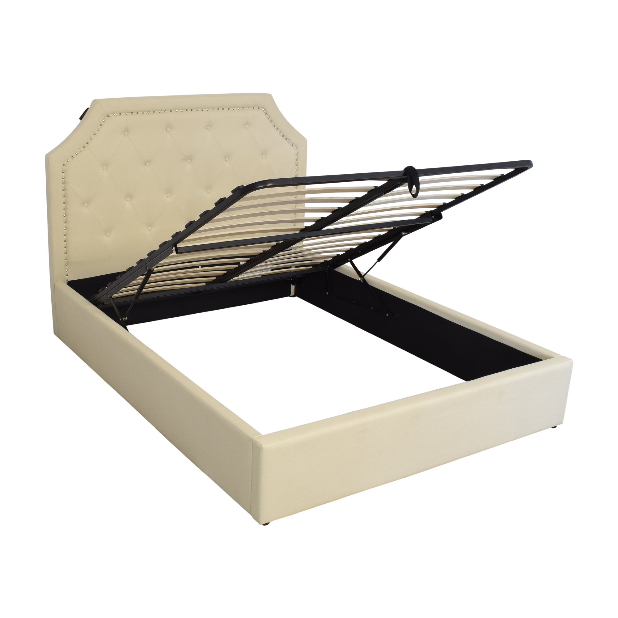 Coaster Hermosa Upholstered Hydraulic Lift Storage Queen Bed / Beds