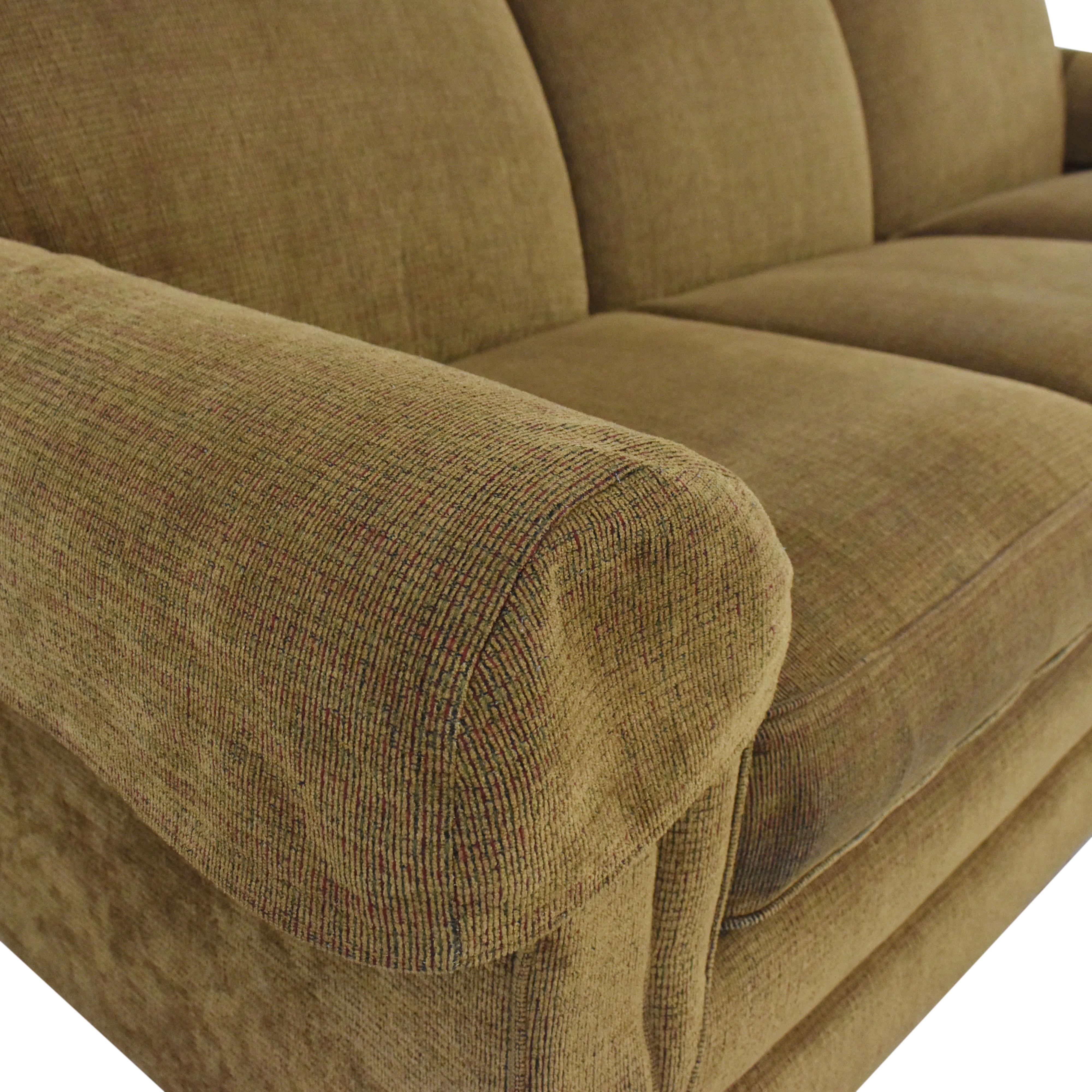 La-Z-Boy La-Z-Boy Three Cushion Roll Arm Sofa dimensions
