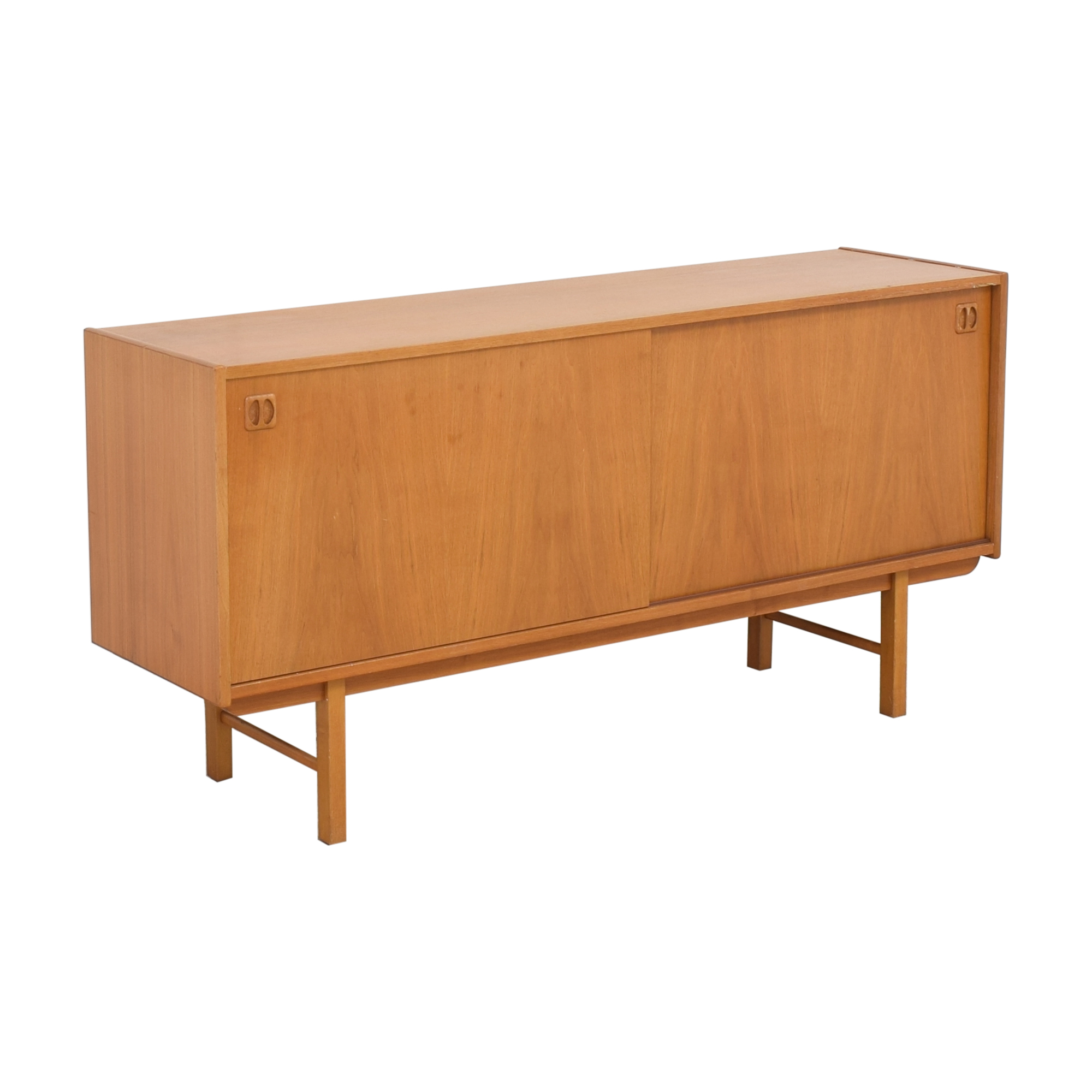 Danish Mid Century Mod Media Credenza brown