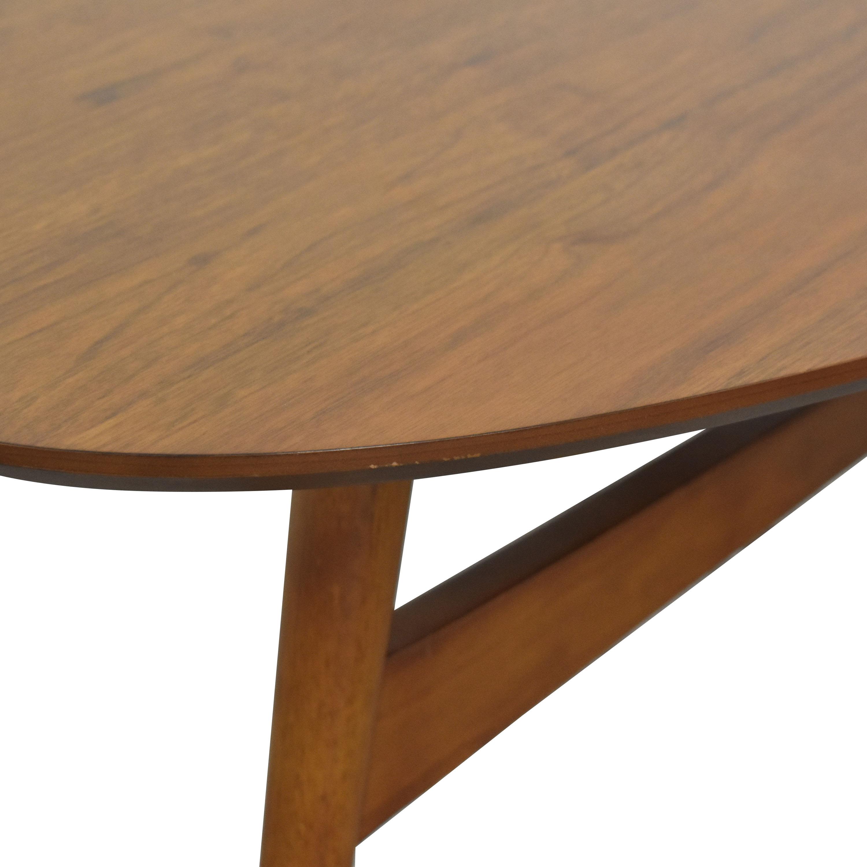 West Elm Reeve Mid Century Oval Coffee Table West Elm