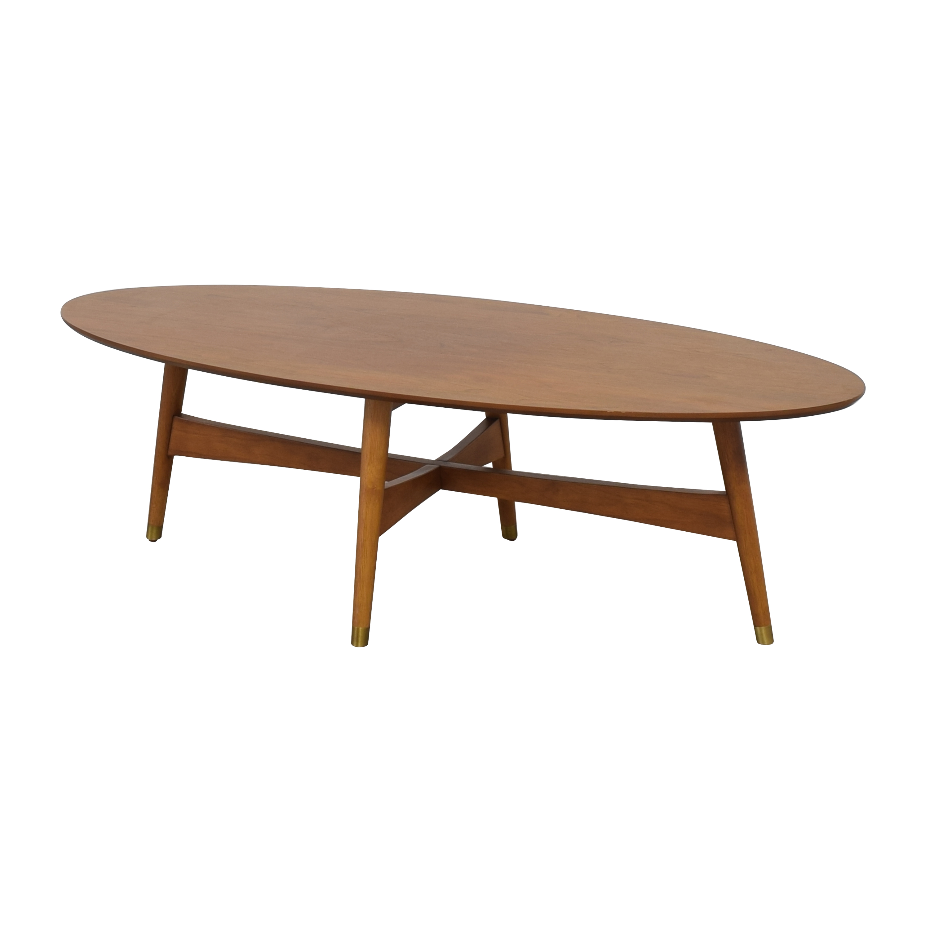 West Elm West Elm Reeve Mid Century Oval Coffee Table dimensions