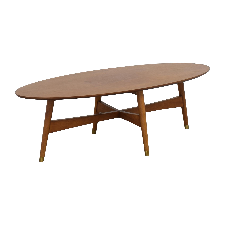 West Elm West Elm Reeve Mid Century Oval Coffee Table Tables
